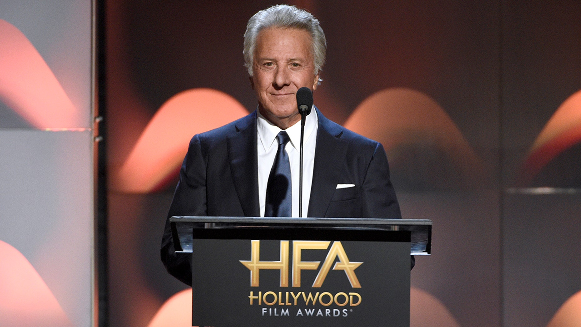 Dustin Hoffman presents the Hollywood comedy award at the Hollywood Film Awards at the Beverly Hilton hotel on Sunday, Nov. 5, 2017, in Beverly Hills, Calif. (Photo by Chris Pizzello/Invision/AP)