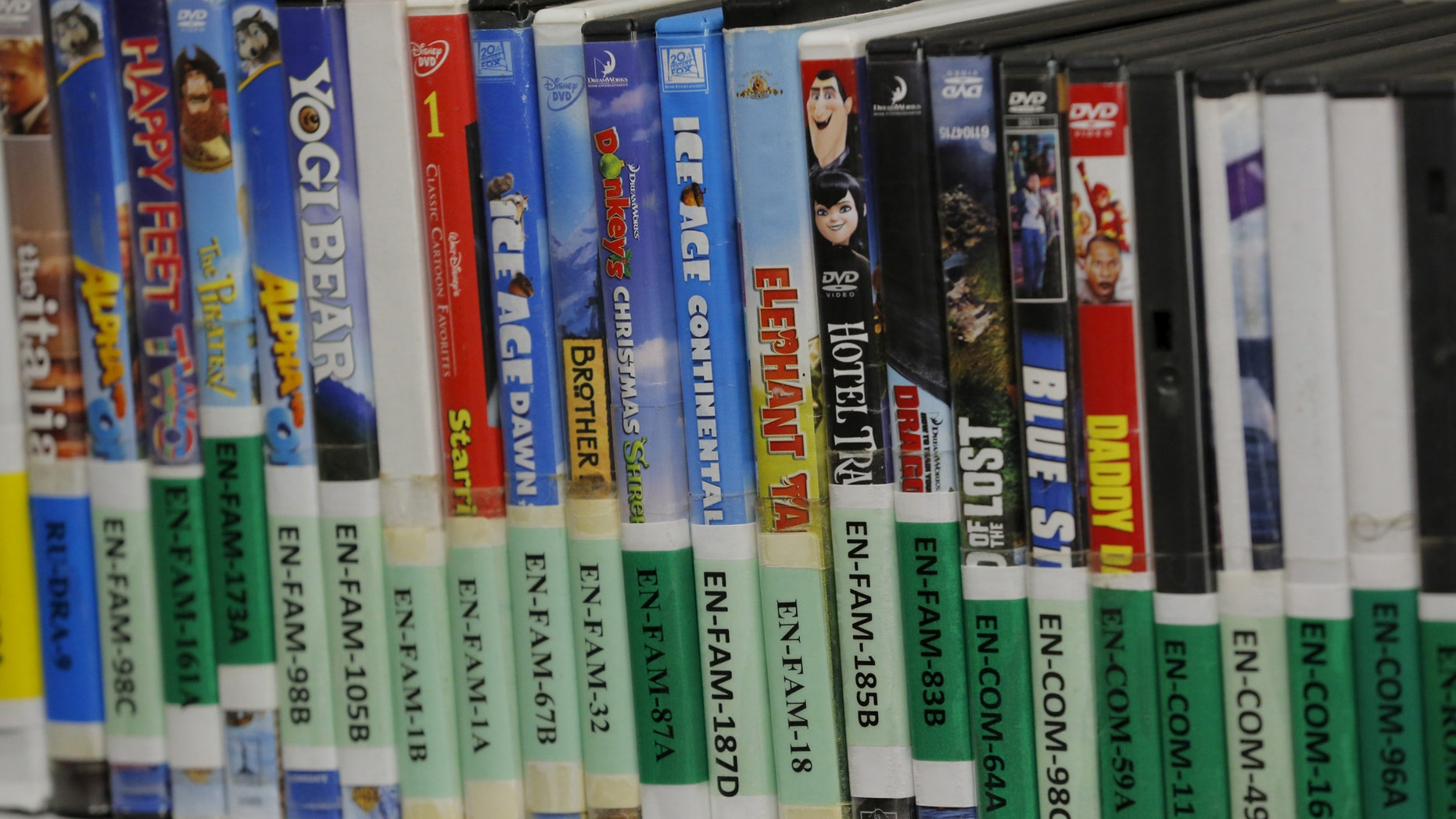File photo: DVDs that can be borrowed by detainees rest on a shelf inside of Joint Task Force Guantanamo's detainee library at the U.S. Naval Base in Guantanamo Bay, Cuba March 22, 2016. (REUTERS/Lucas Jackson)