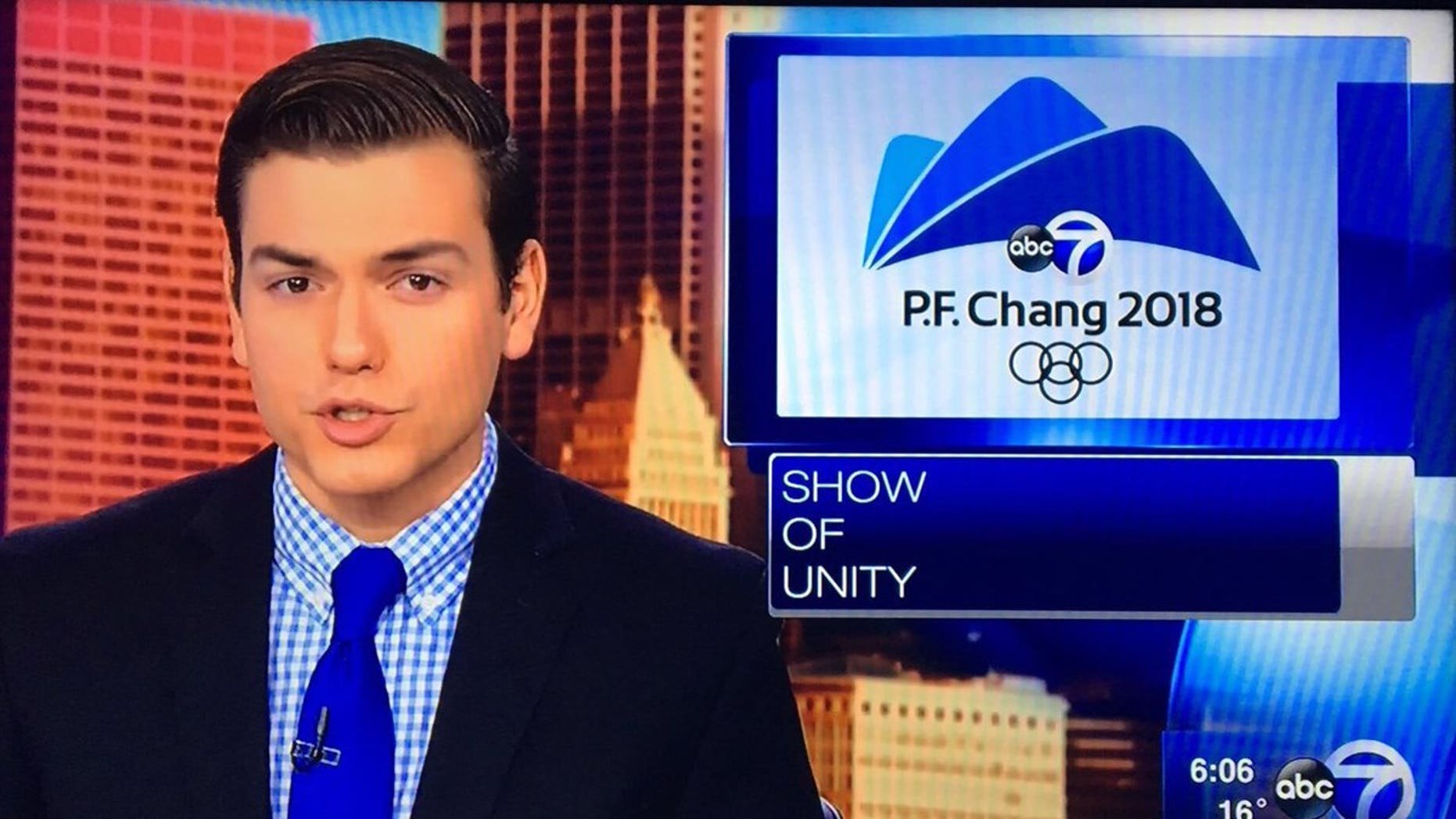 An ABC affiliate in Chicago aired a graphic that mixed up Pyeongchang with P.F. Chang's.