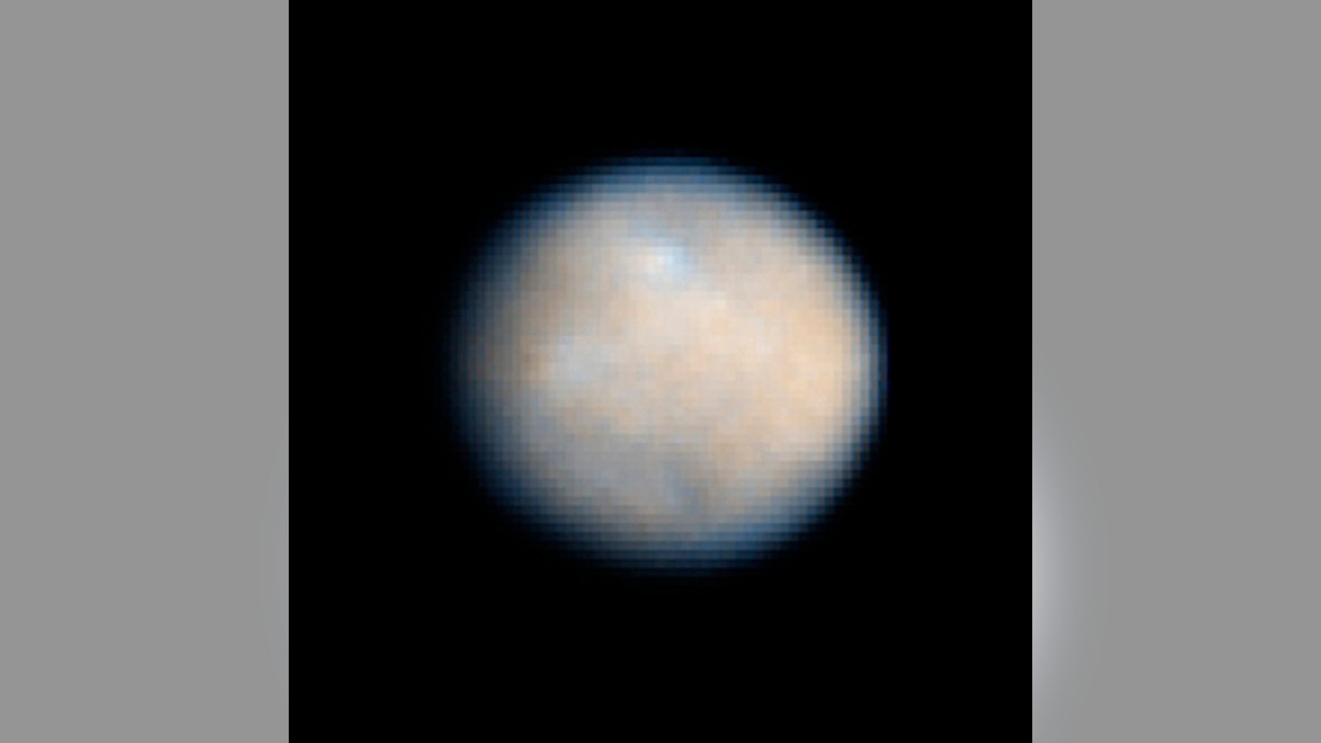 The dwarf planet Ceres, also the largest asteroid in the solar system, is seen here in an amazing view from the Hubble Space Telescope. In March 2015, NASA's Dawn spacecraft is expected to enter orbit around Ceres to study the object like never