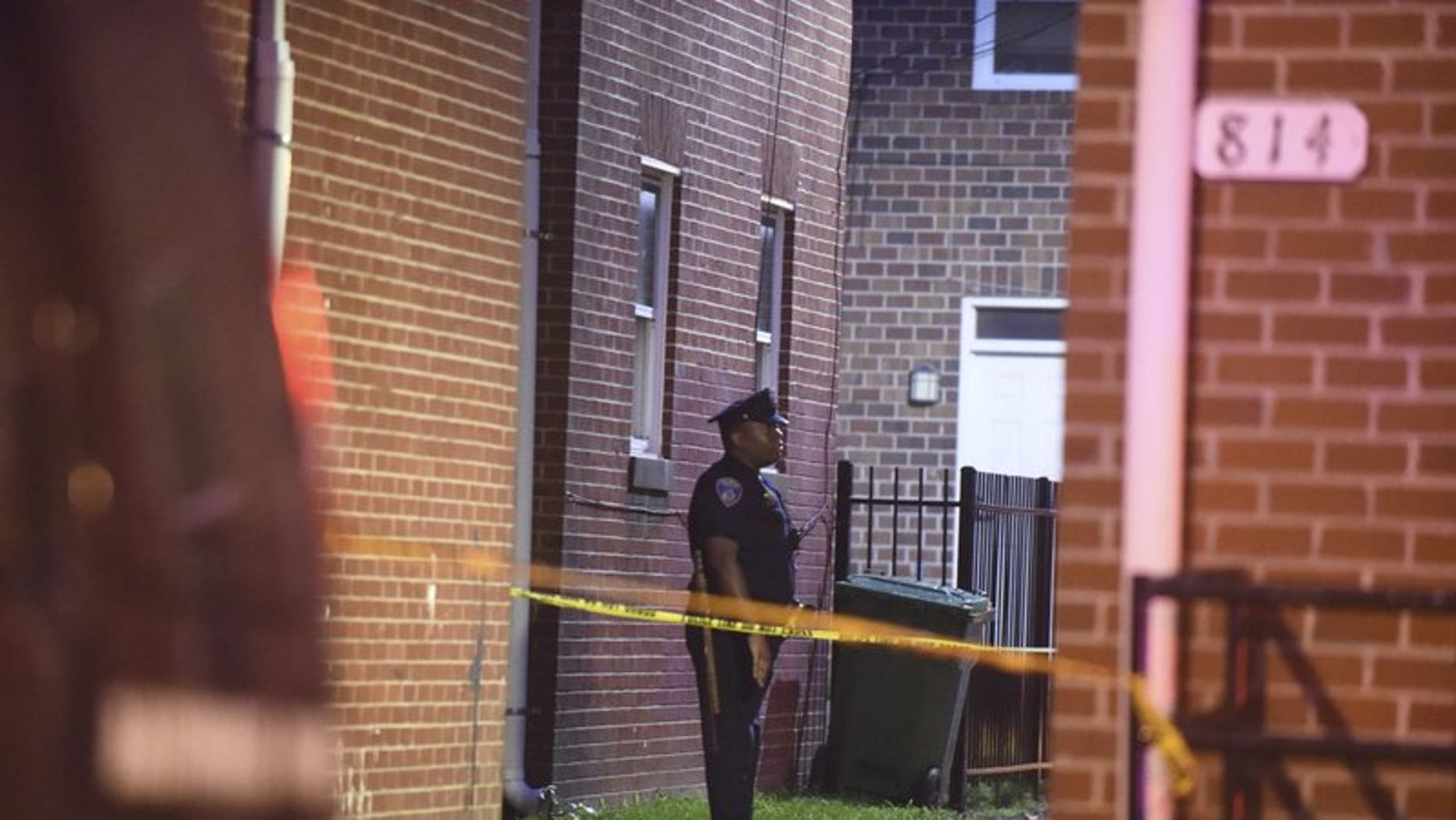 Authorities in Baltimore responded to a shootout between a police officer and a gunman. One witness said it sounded like a war.