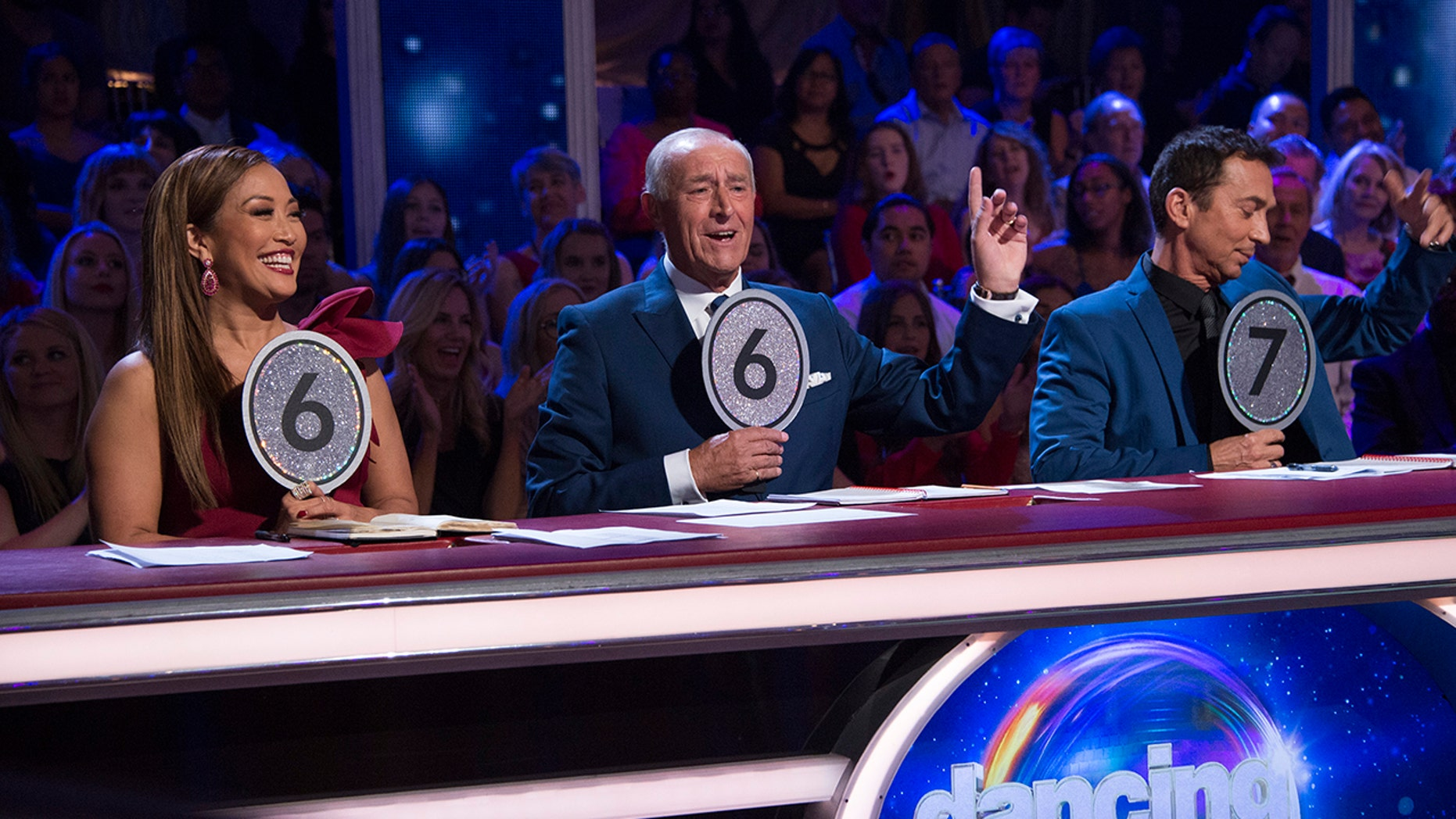 """Dancing with the Stars"" judges from l-r: Carrie Ann Inaba, Len Goodman and Bruno Tonioli."