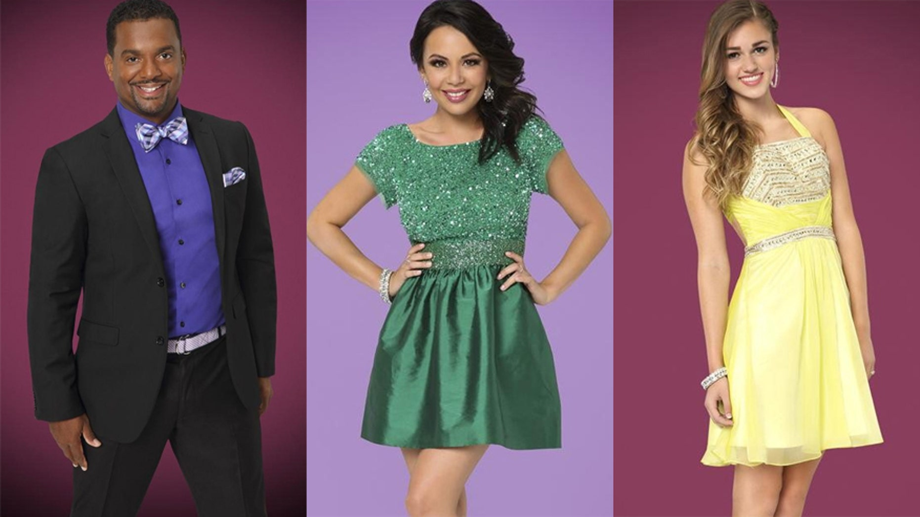 """Dancing With The Stars"" top 3 from left: Alfonso Ribeiro, Janel Parrish and Sadie Robertson."