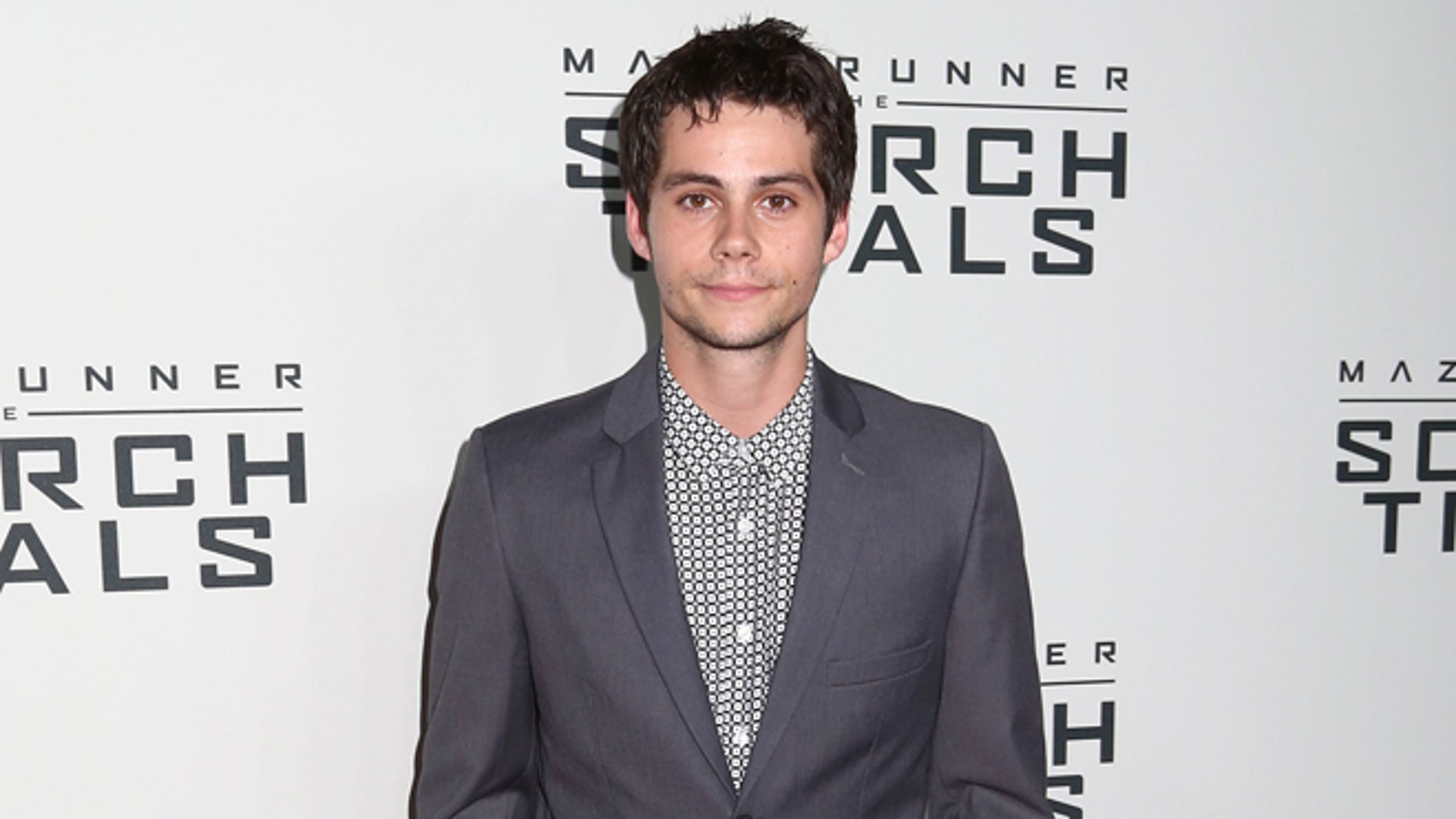 """September 15, 2015. Dylan O'Brien attends the premiere of """"Maze Runner: The Scorch Trials"""" in New York."""