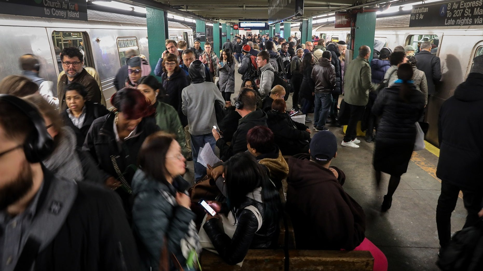 MTA officials said commuters riding the subway in New York City were partially to blame for the delays.