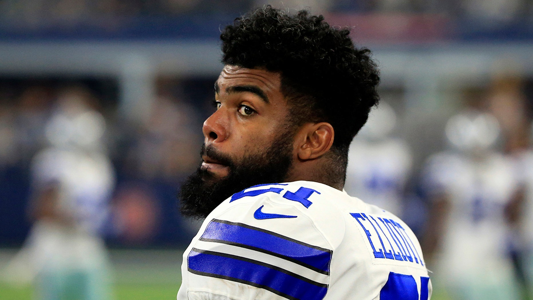 Dallas Cowboys NFL football star Ezekiel Elliott, 22, has dropped his appeal with five games remaining on his six-game suspension over alleged domestic violence. (The Associated Press)