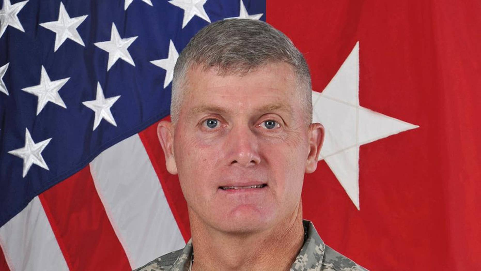 This photo provided by the U.S. Army shows Maj. Gen. Wayne Grigsby. The U.S. Army says it has fired Grigsby, the commander of Fort Riley, from his job and is continuing an investigation launched last week at the Kansas base. No details have been provided. Army spokesman Col. Patrick R. Seiber says that Grigsby was relieved of command of the 1st Infantry Division due to loss of confidence in his ability to lead. Grigsby was initially suspended on Friday, Sept. 23, 2016. (U.S. Army via AP)