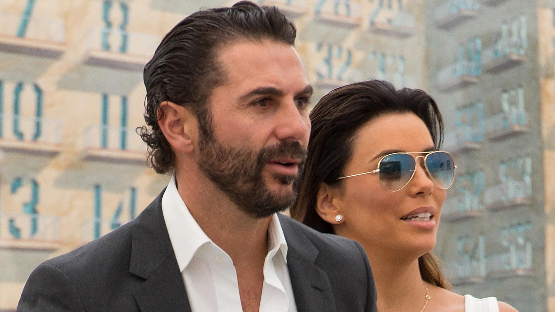 Jose Antonio Baston and Eva Longoria in a May 2014 file photo.