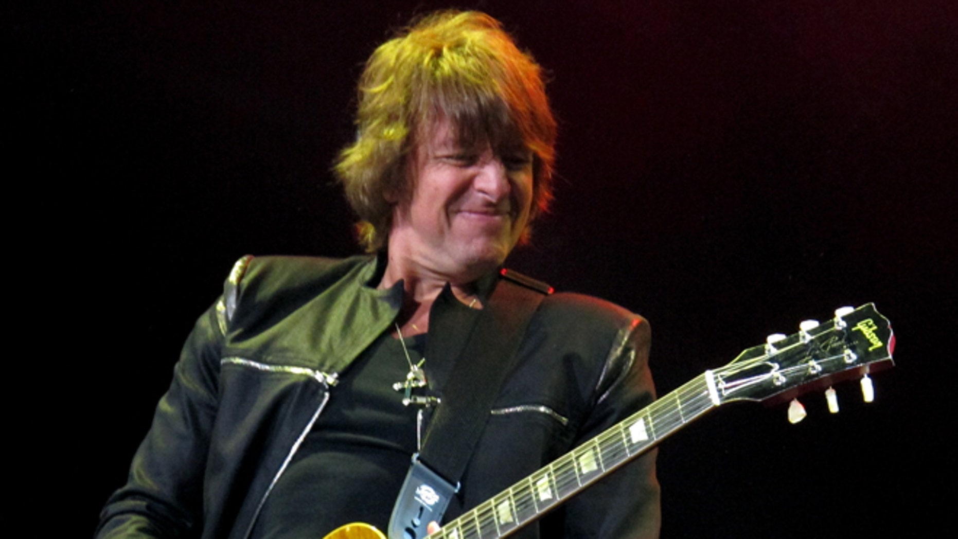 May 20, 2012: This file photo shows Bon Jovi guitarist Richie Sambora performing at the Bamboozle Festival in Asbury Park N.J.