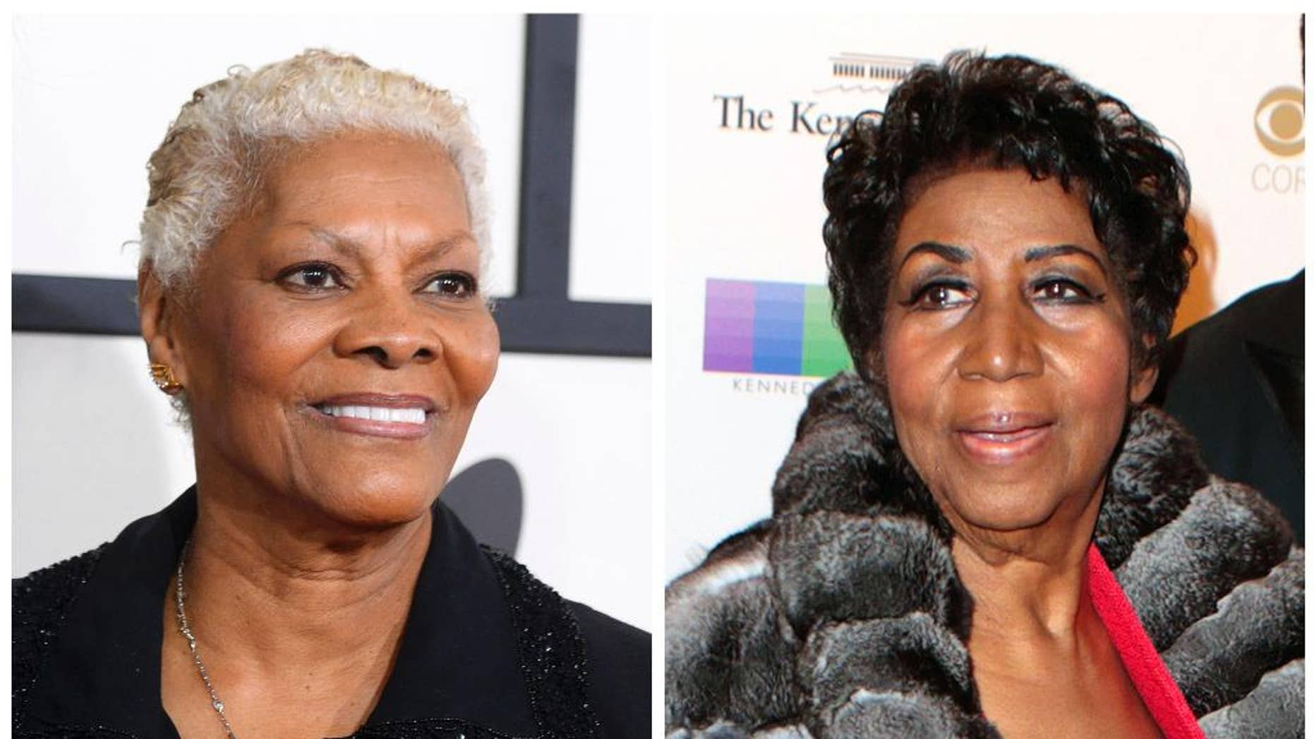 Aretha Franklin, right, slammed Dionne Warwick for statements Warwick made at Whitney Houston's funeral five years ago.