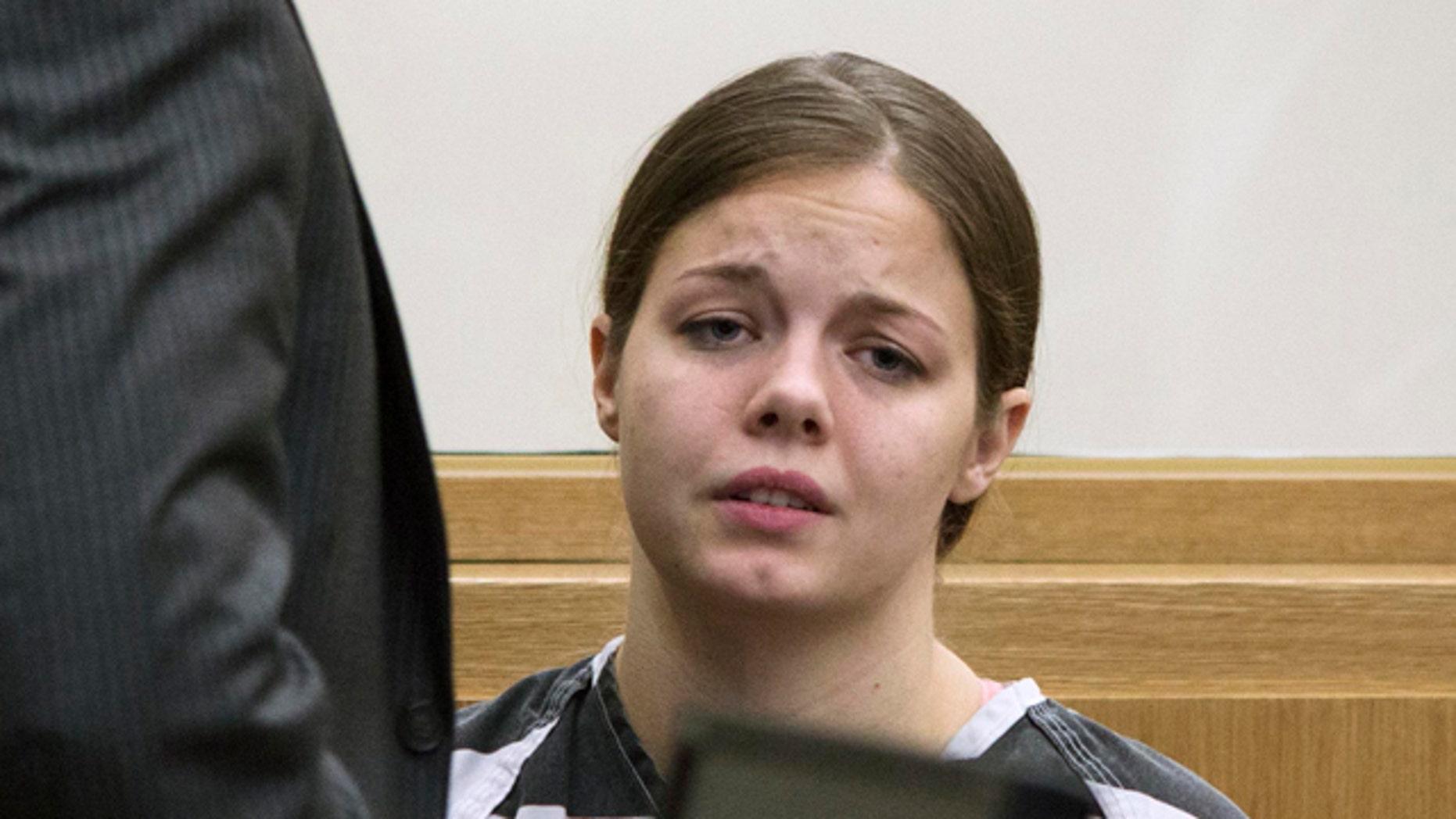 Dec. 7, 2012: Elizabeth Johnson is shown after being sentenced in Phoenix.