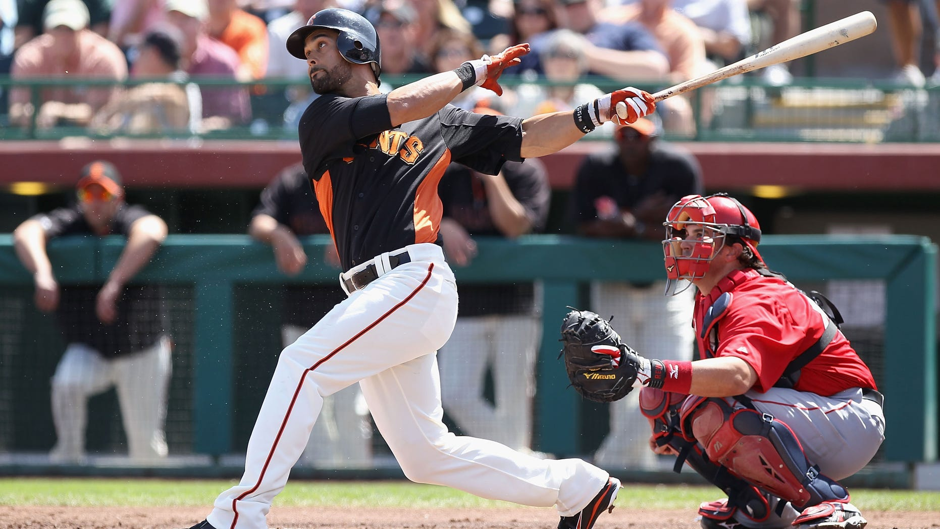 Angel Pagan #16 of the San Francisco Giants (Photo by Christian Petersen/Getty Images)