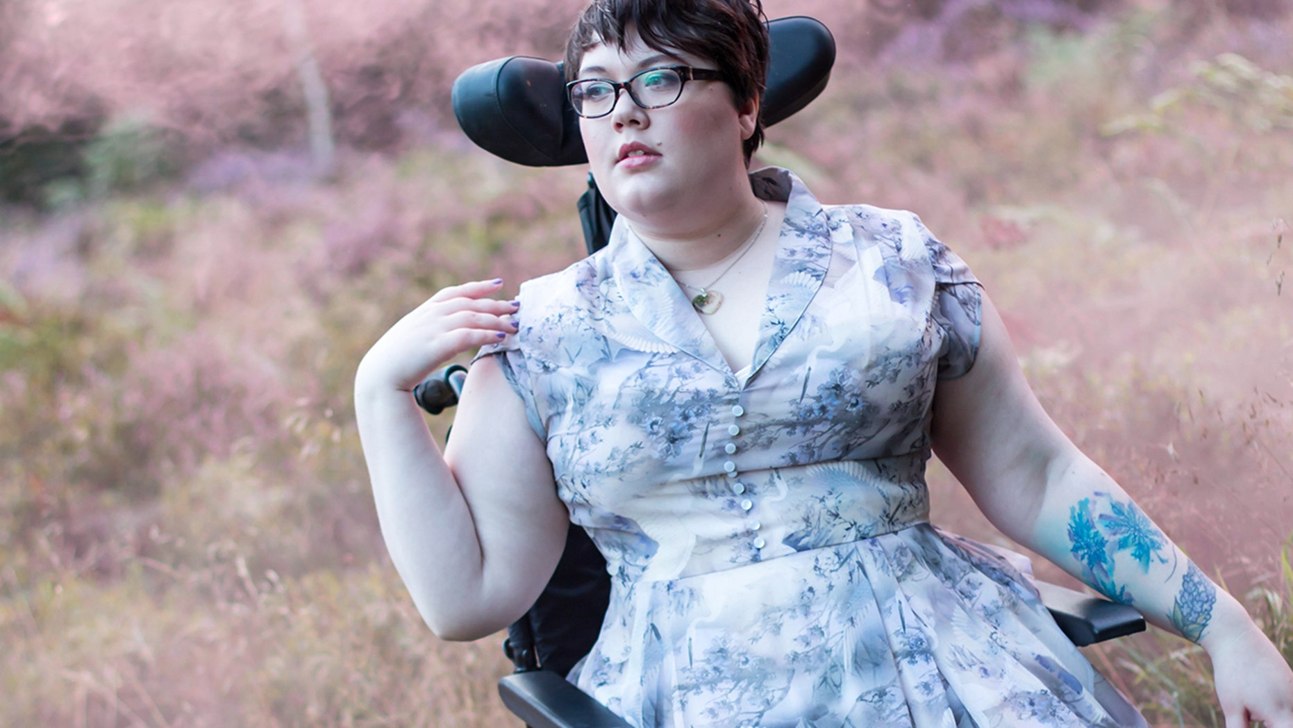 Sally Leadbetter posed for this photo wearing a ModCloth dress, which the brand shared on their Instagram