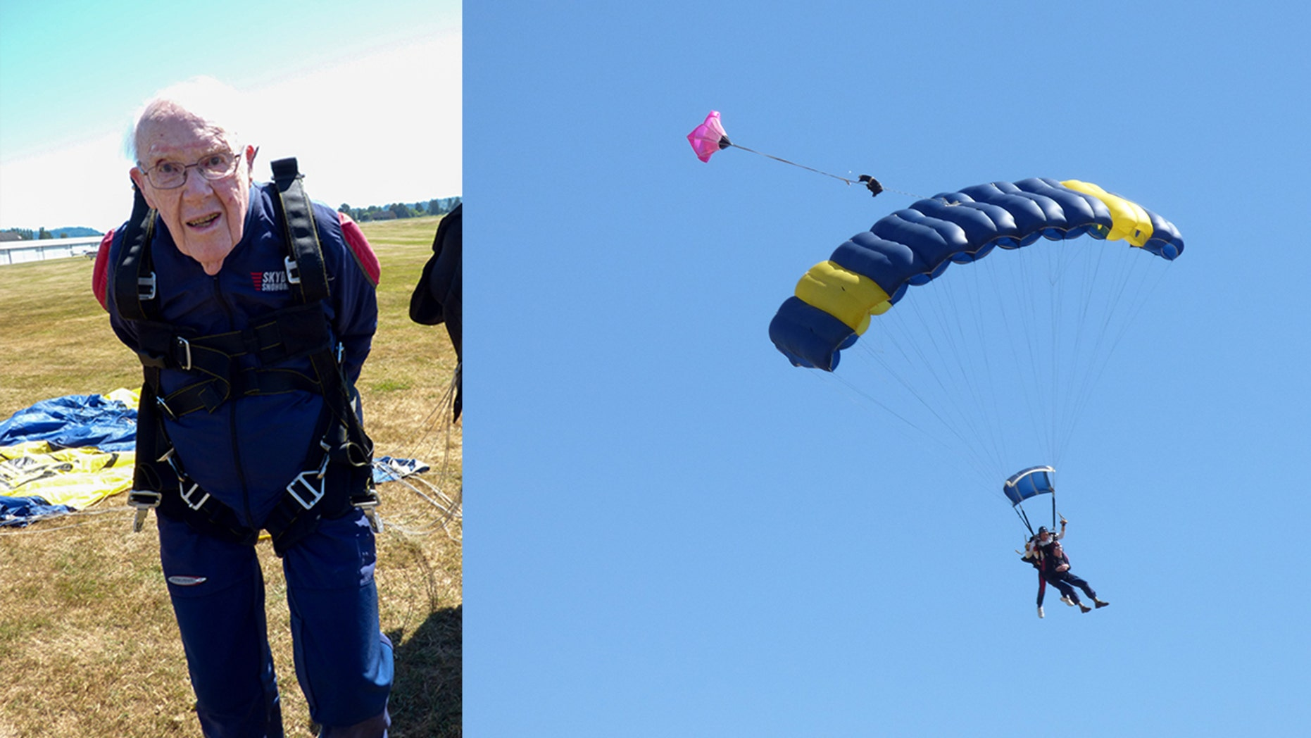 "On July 22, Robert ""Stu"" Williamson went skydiving to commemorate his milestone birthday."