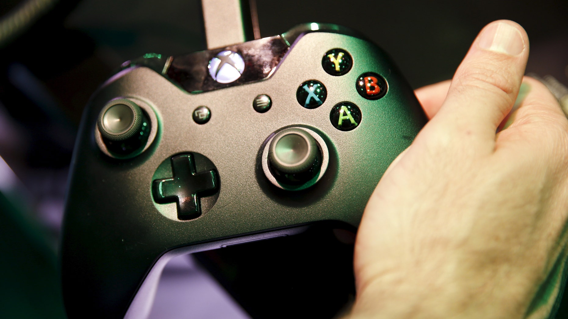 A Microsoft Xbox controller is seen at the Electronic Entertainment Expo, or E3, in Los Angeles, June 17, 2015.