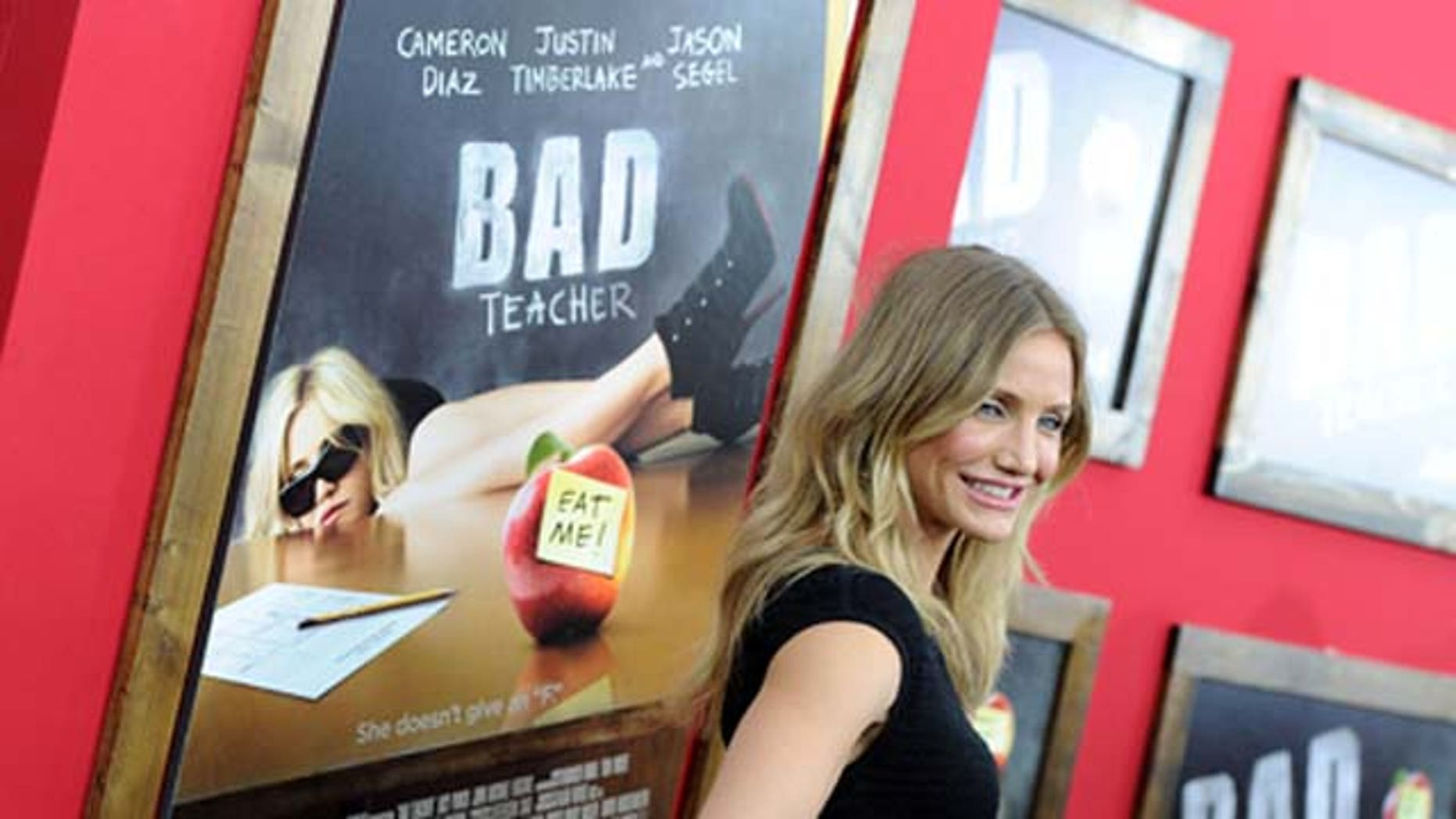June 20:  Actress Cameron Diaz attends the premiere of 'Bad Teacher' at the Ziegfeld Theatre in New York City.