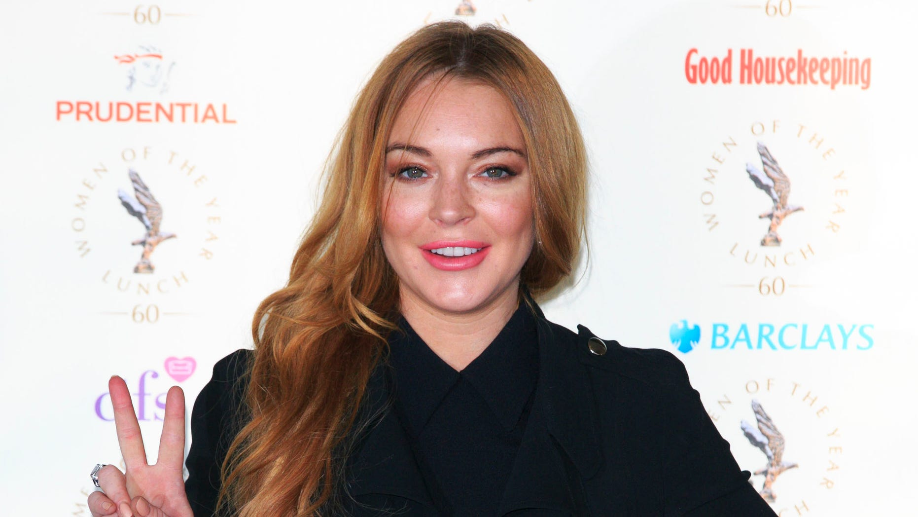 Lindsay Lohan attends the Women Of The Year lunch on October 13, 2014 in London, England.