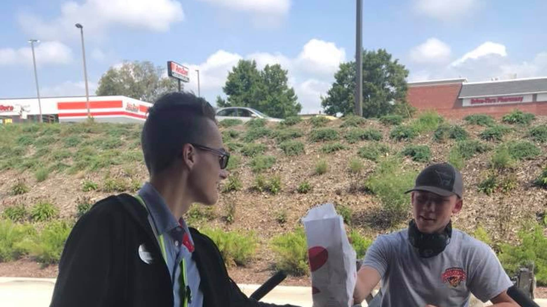 A Chick-fil-A restaurant in Maryland beefed up its customer service when a patron came through the drive-thru on a riding lawn mower.
