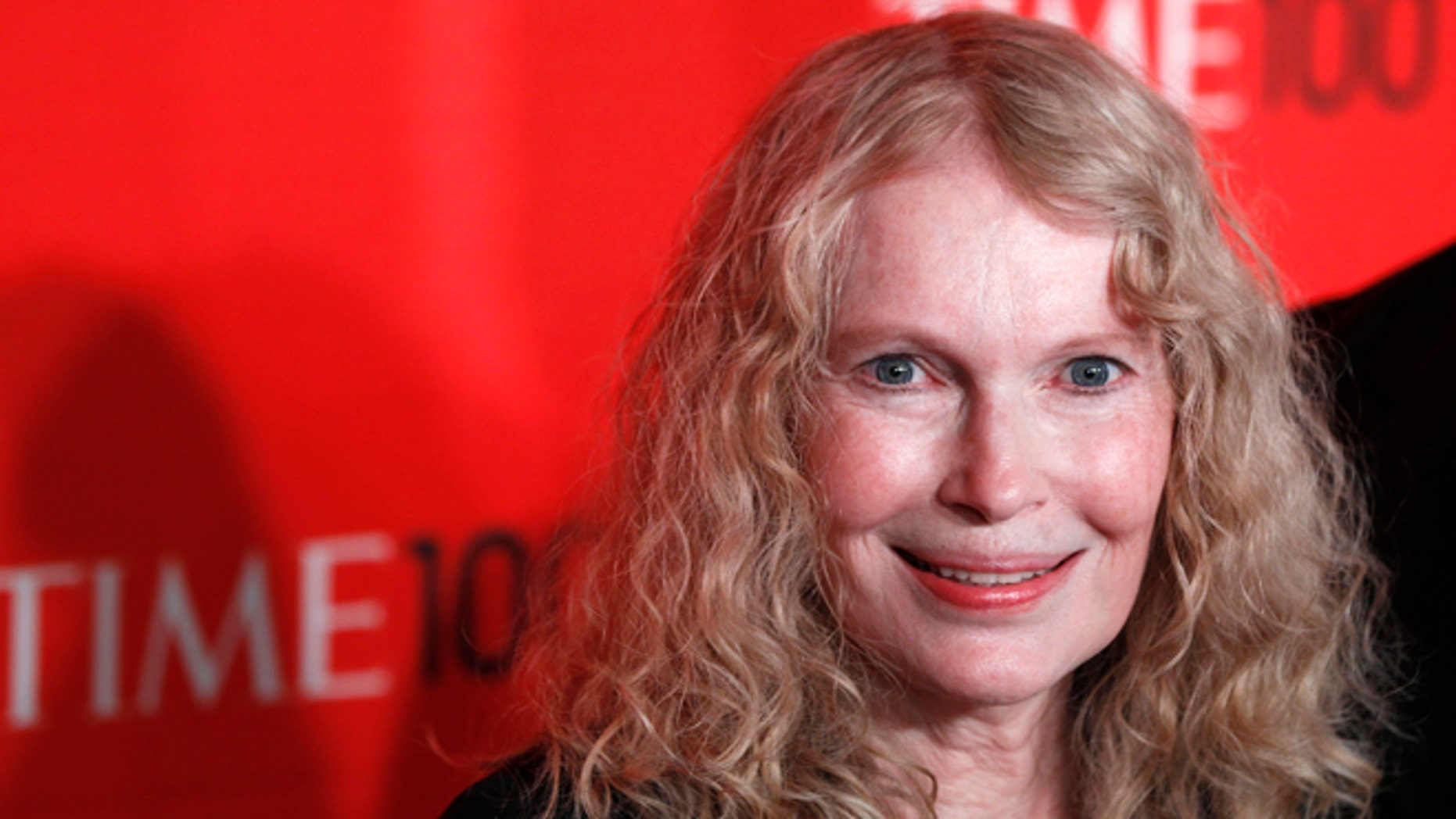 April 24, 2012: Actress Mia Farrow arrives at the Time 100 Gala in New York.