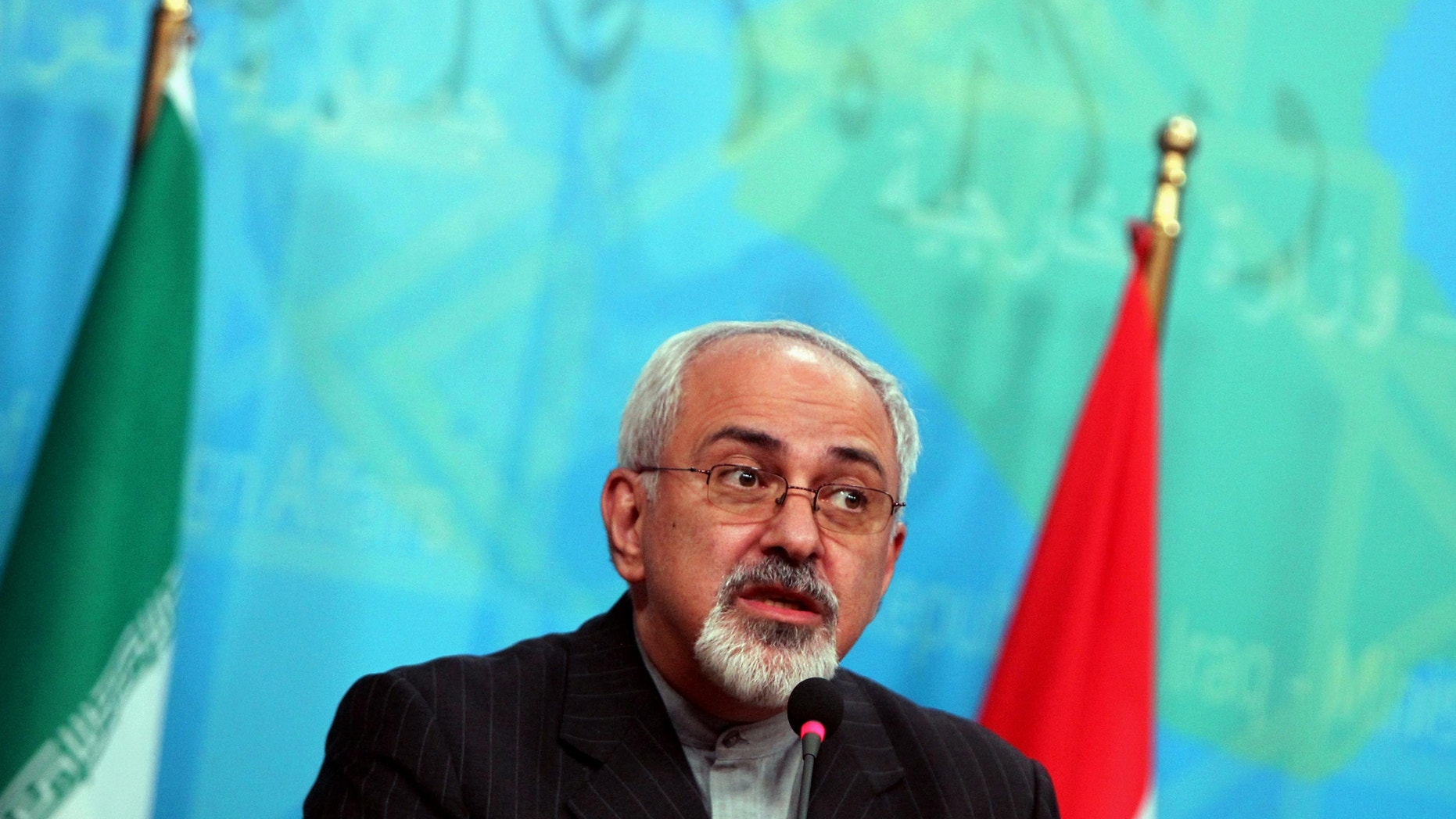 Sept. 8, 2013 - FILE of Iranian Foreign Minister Mohammad Javed Zarif, speaking during a press conference in Baghdad.