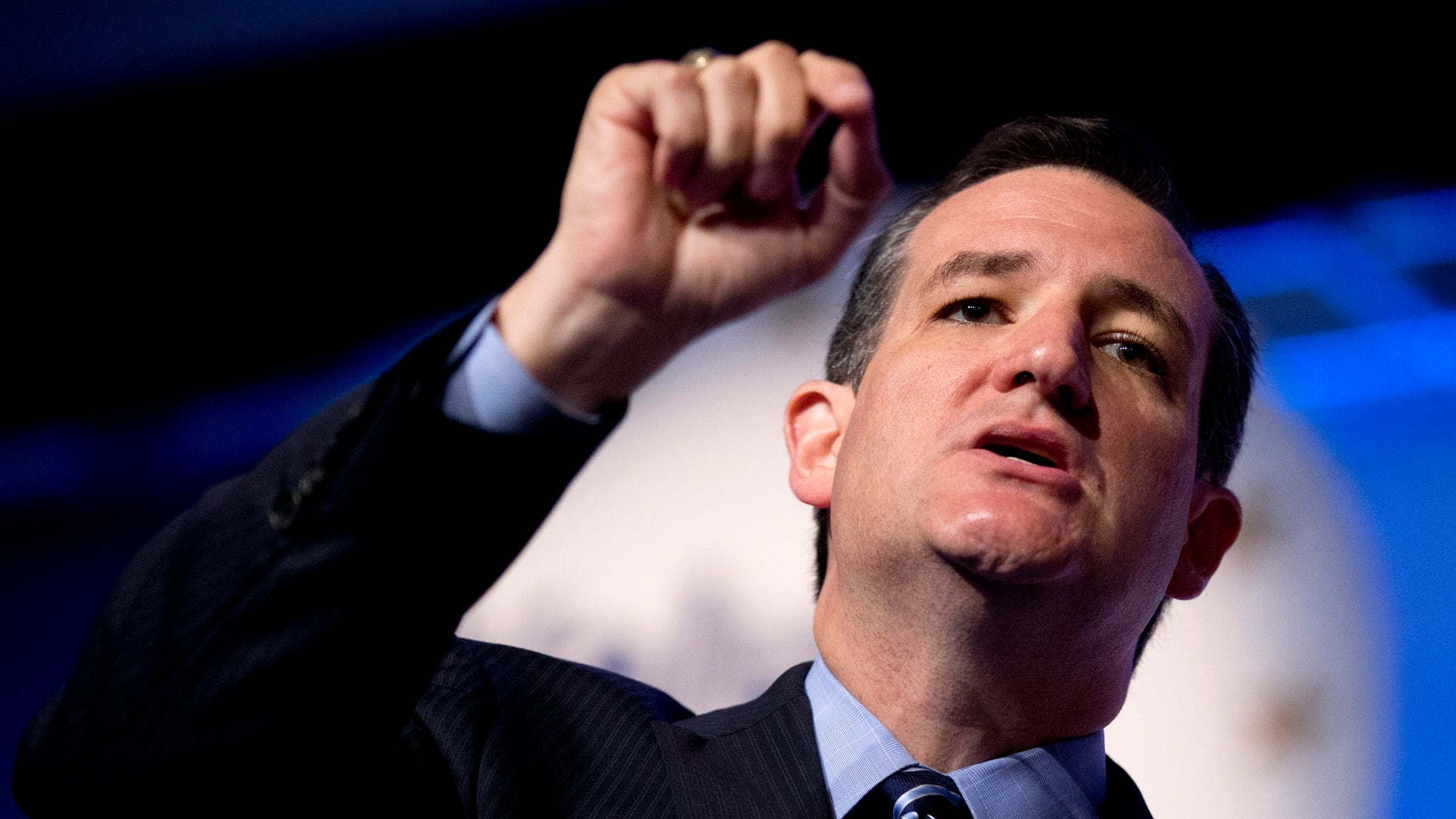 Sen. Ted Cruz, R-Texas speaks at the 2014 Values Voter Summit in Washington, Friday, Sept. 26, 2014. Prospective Republican presidential candidates are expected to promote religious liberty at home and abroad at a gathering of evangelical conservatives, rebuking an unpopular President Barack Obama while skirting divisive social issues that have tripped up the GOP. (AP Photo/Manuel Balce Ceneta)