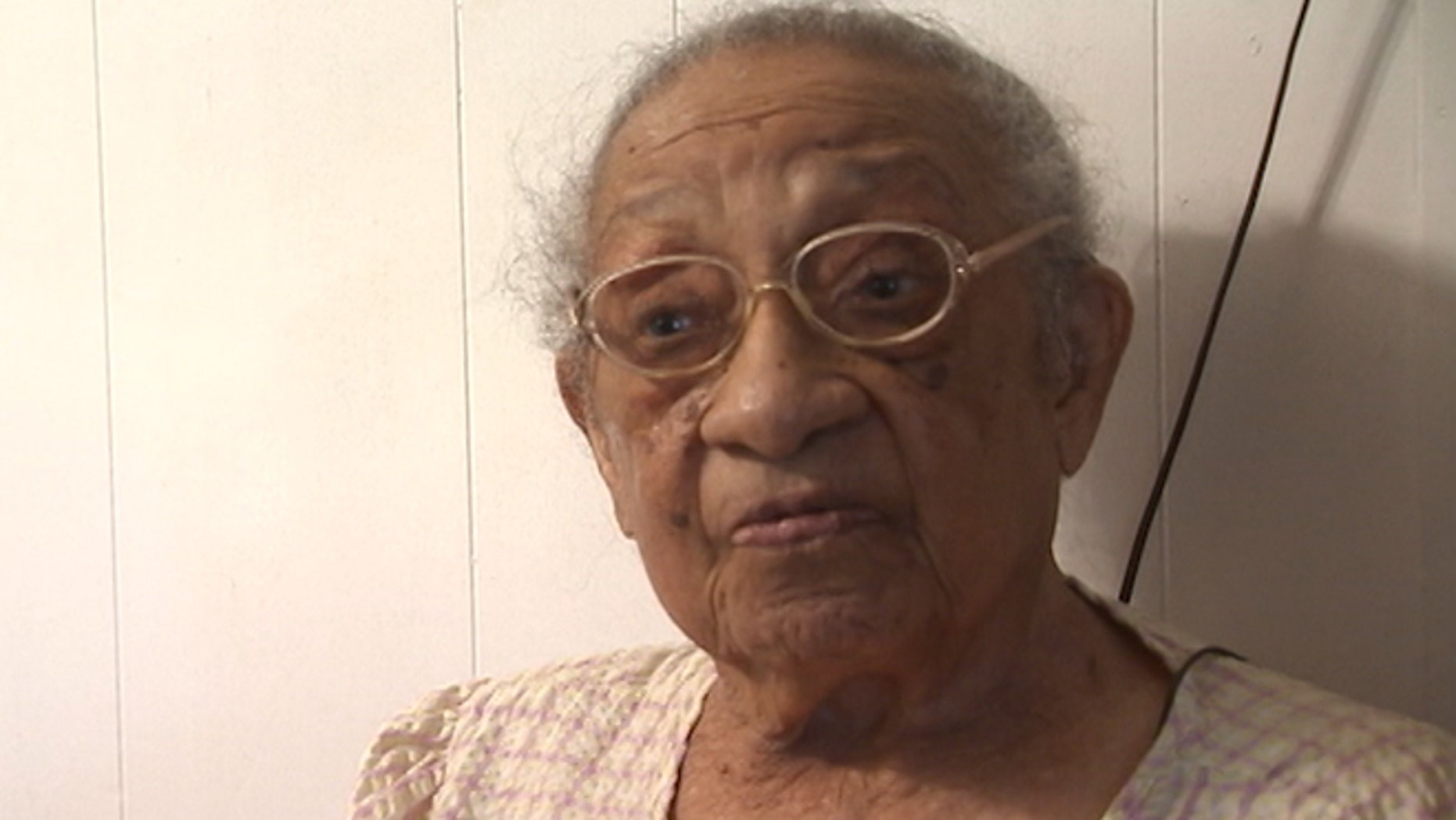 Genora Hamm Biggs, 103, is pictured in this photo provided by Fox affiliate WAGA-TV.