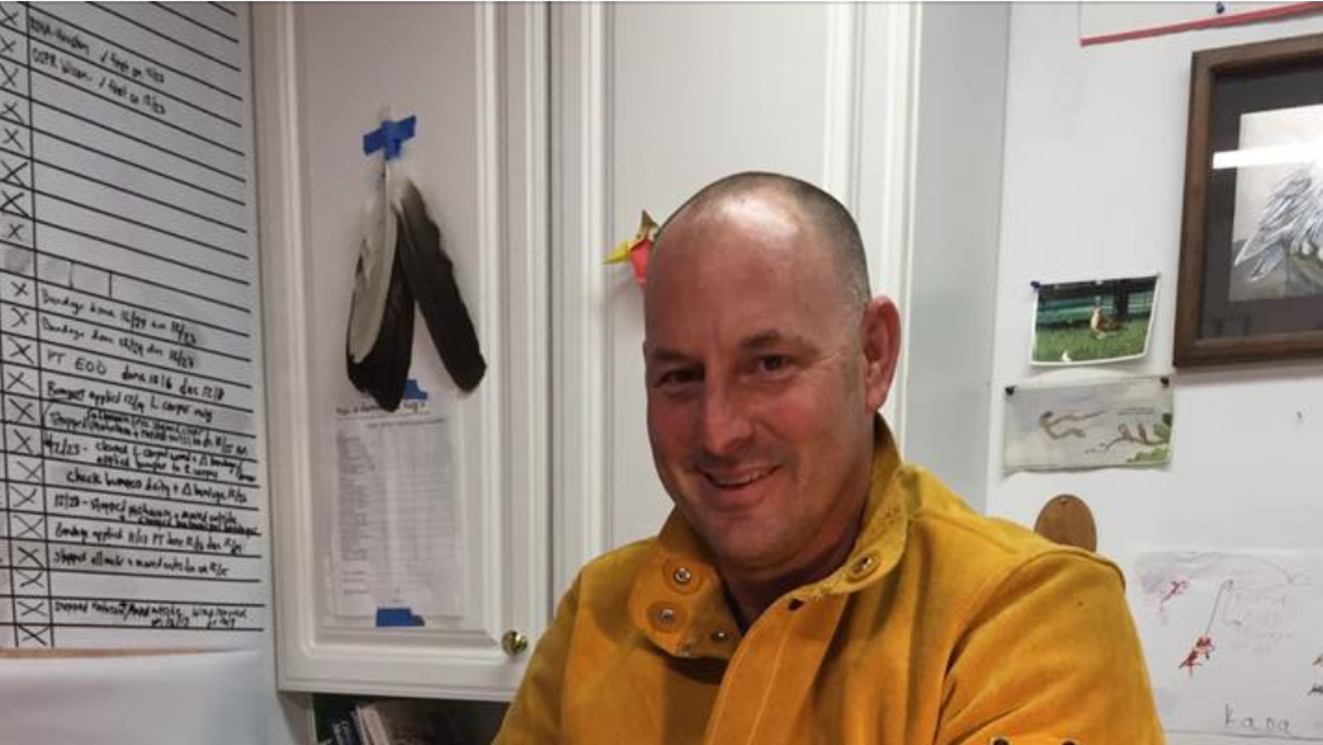 Lt. Jeff Woods rescued a bald eagle on Christmas Eve.