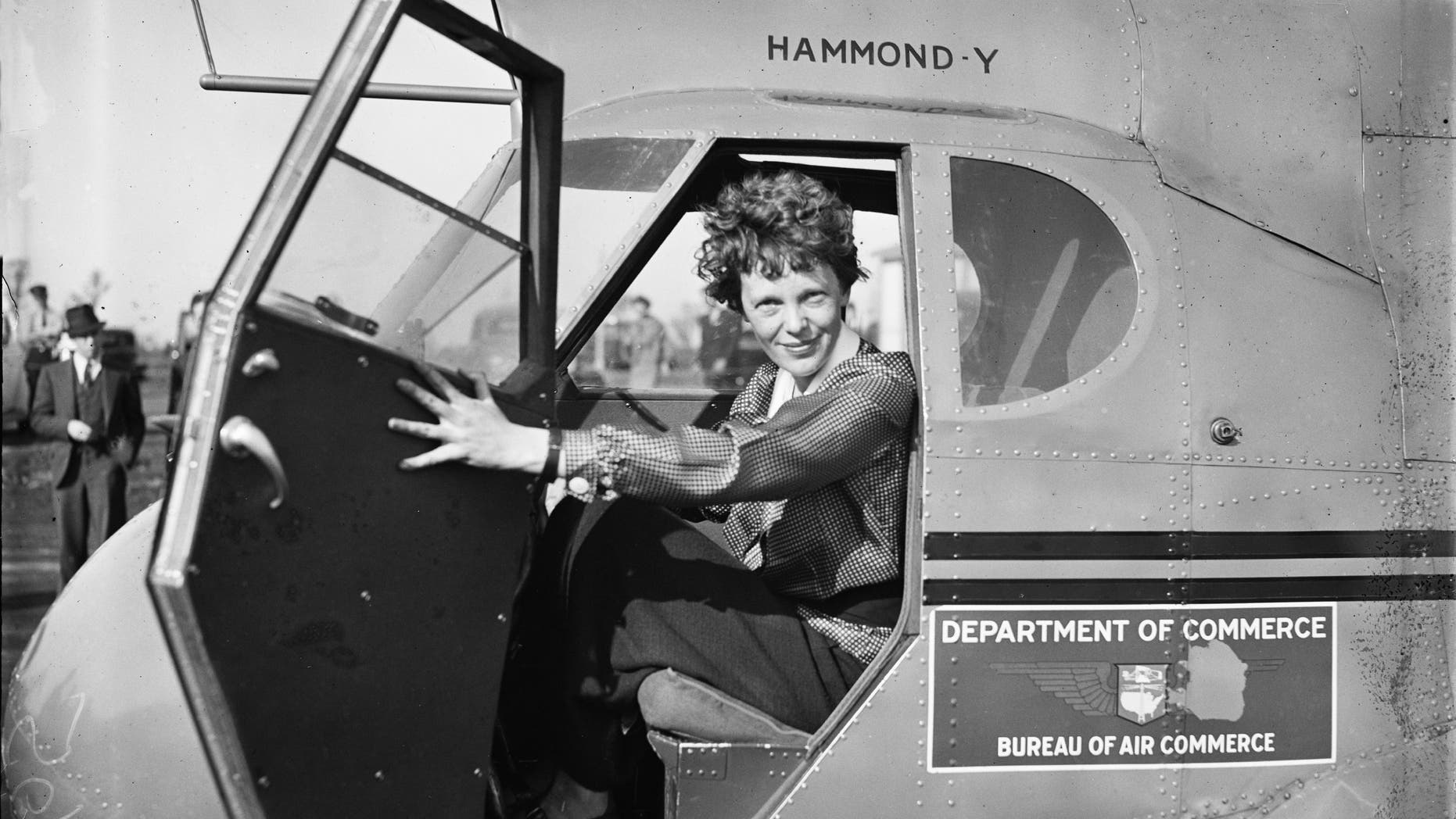 Amelia Earhart was the first woman to fly solo across the Atlantic. (Credit: Library of Congress)