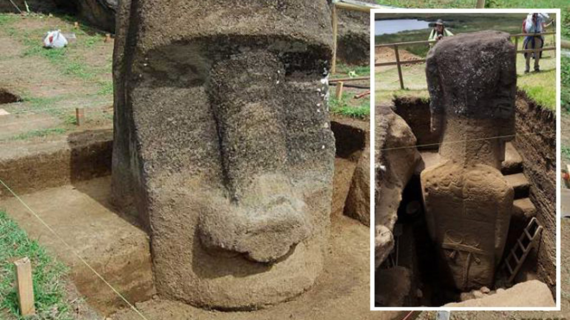 The first methodical investigation of the statues at Rapa Nui, which many think of as simple heads, reveals the complete figures buried over centuries by natural forces.