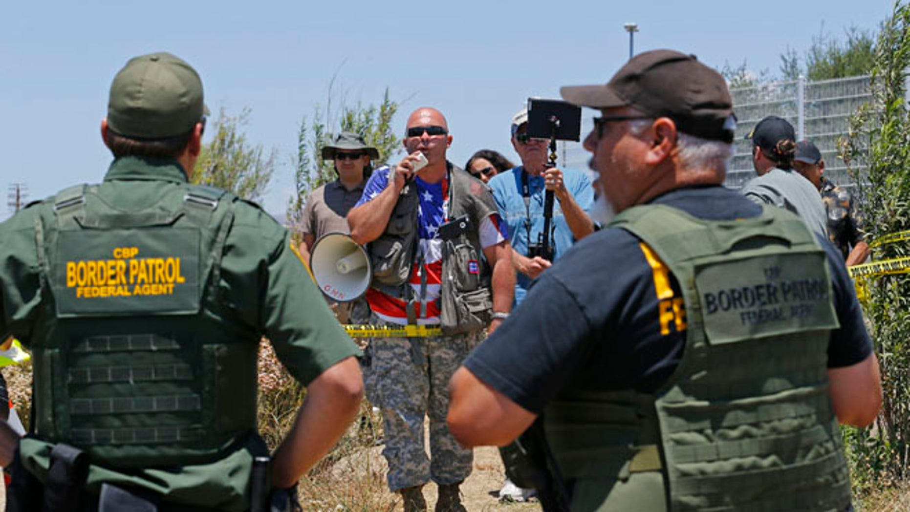 FILE: July 4, 2014: Border Patrol agents at their facility in Murrieta, Calif.