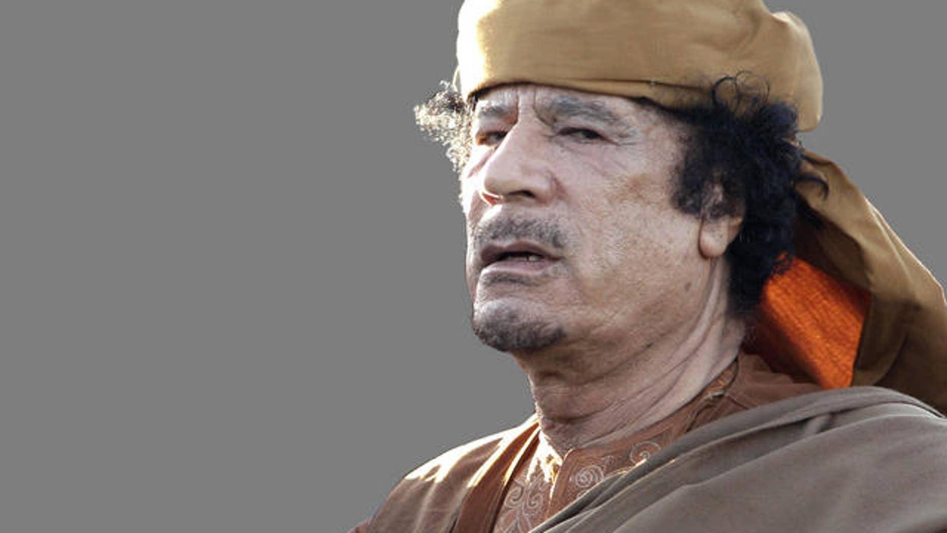 FILE photo of Moammar Qaddafi.