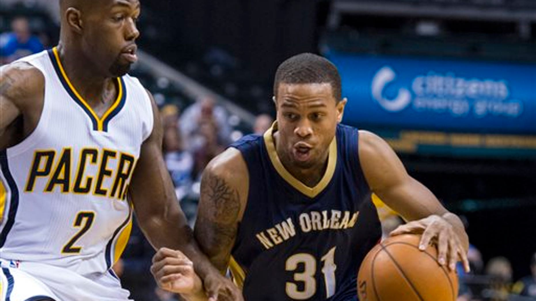 New Orleans Pelicans guard Bryce Dejean-Jones (31) was fatally shot after breaking down the door to a Dallas apartment, authorities said Saturday.