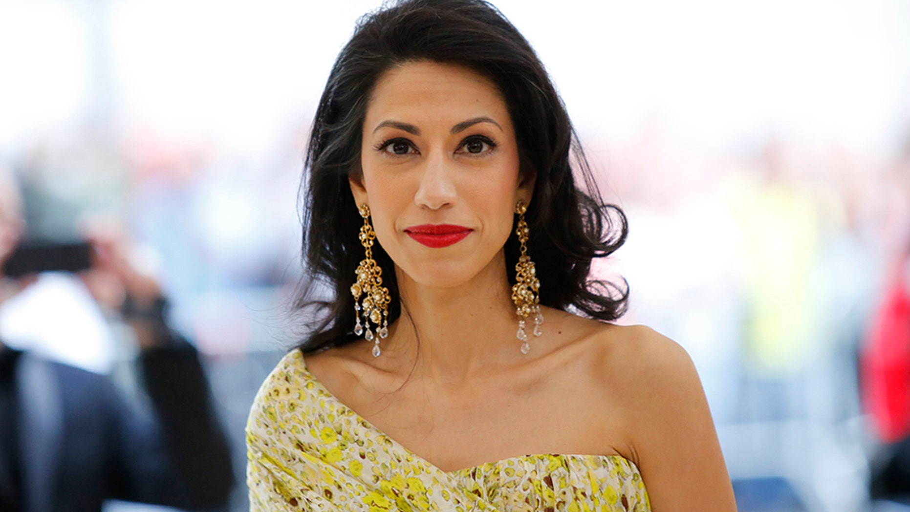 Huma Abedin was seen at the Metropolitan Museum of Art's gala this month.