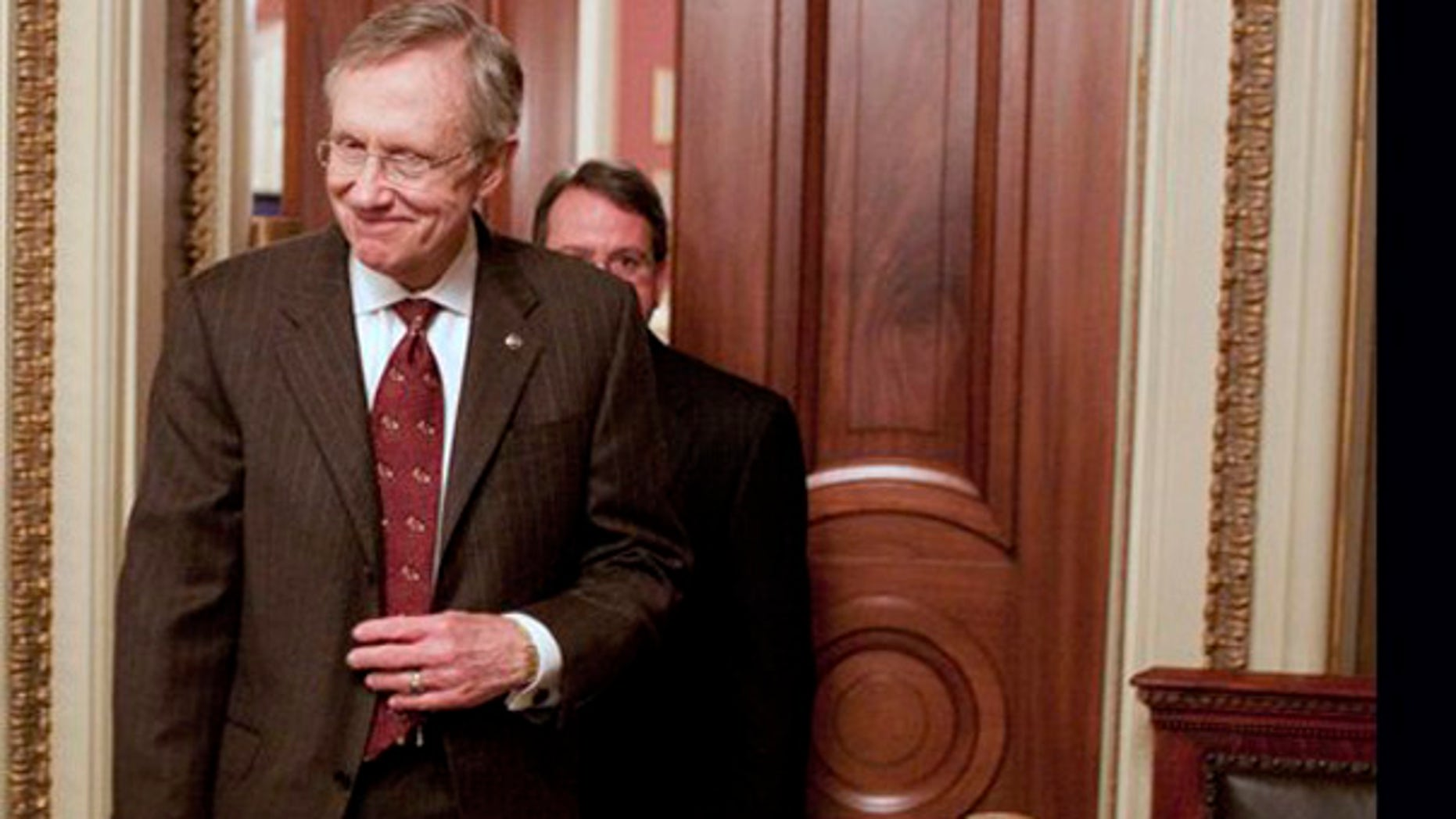 File: Senate Majority Leader Harry Reid, D-Nev., leaves a Democratic caucus on Capitol Hill in Washington. (AP)