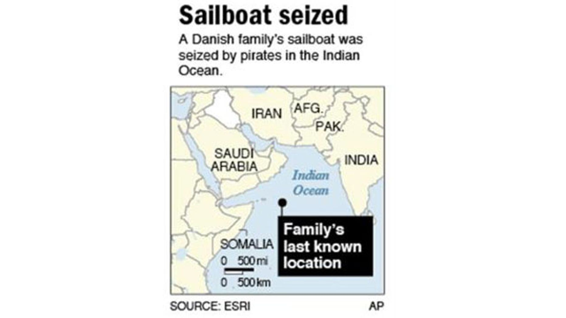 The Johansens, their three children and two crew members were kidnapped two weeks ago after pirates seized their 43-foot (13-meter) sailboat.