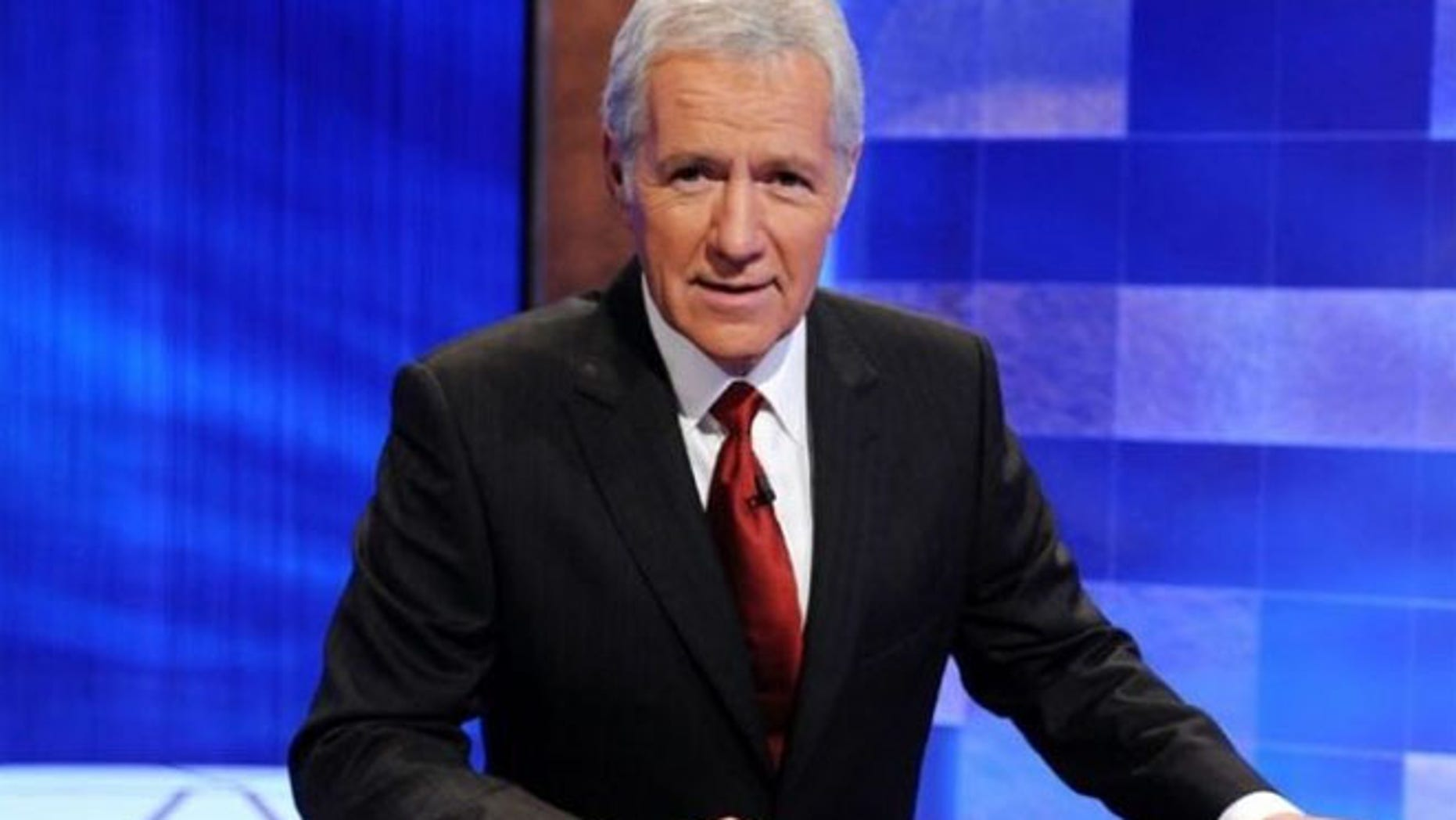 Alex Trebek appeared to not notice that one of the show's contestants gave him the middle finger.
