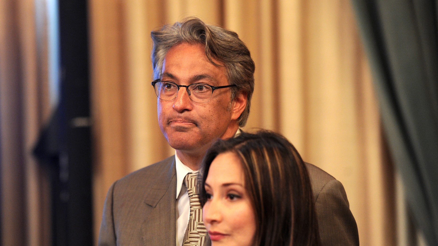 Suspended San Francisco Sheriff Ross Mirkarimi and his wife, Eliana Lopez. (AP Photo/Noah Berger)