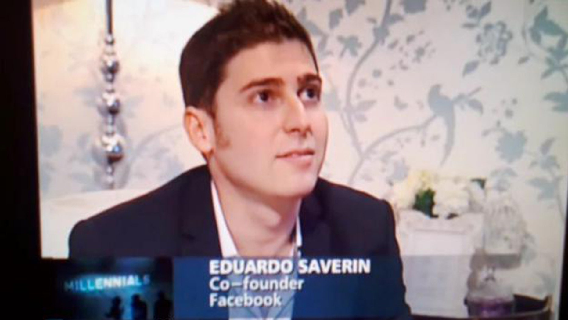 Facebook co-founder Eduardo Saverin, seen in a 2010 interview from Singapore, where he lives.
