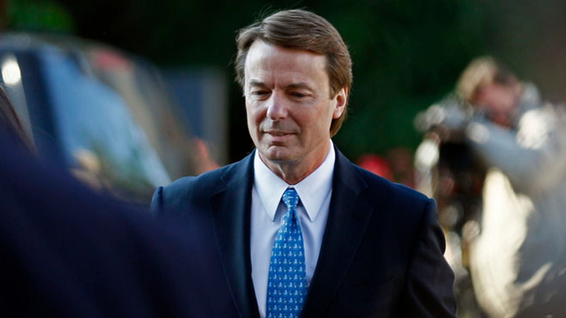 April 23, 2012: John Edwards arrives at federal court in Greensboro, N.C.