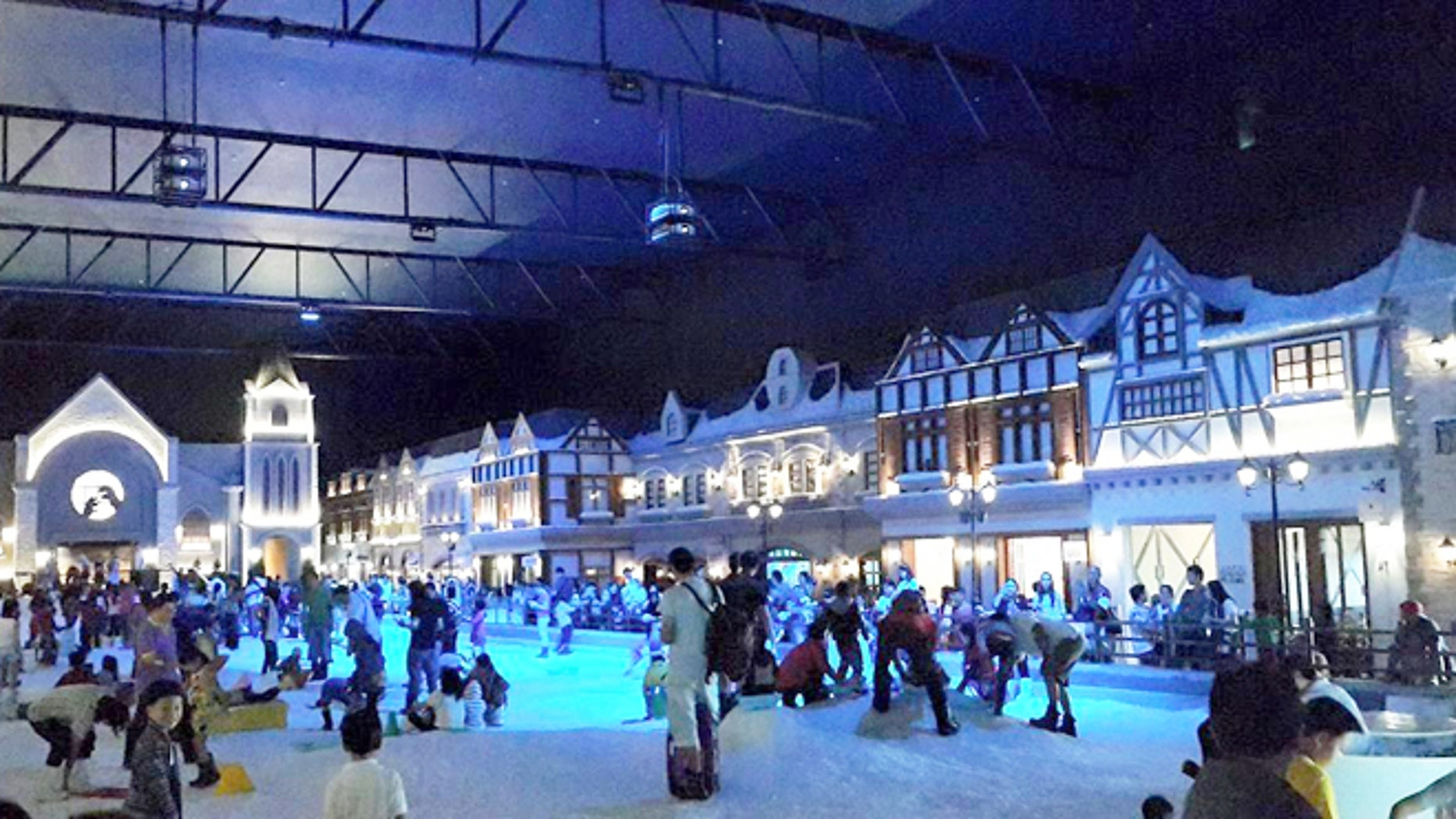 The sprawling indoor attraction features real snow.