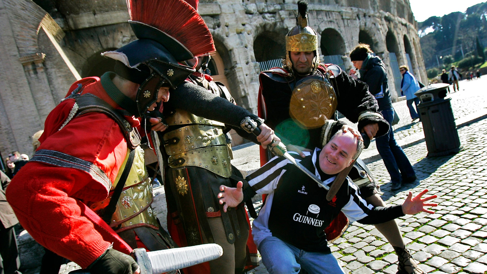 Actors dressed like gladiators are now banned outside of Rome's famed attractions.
