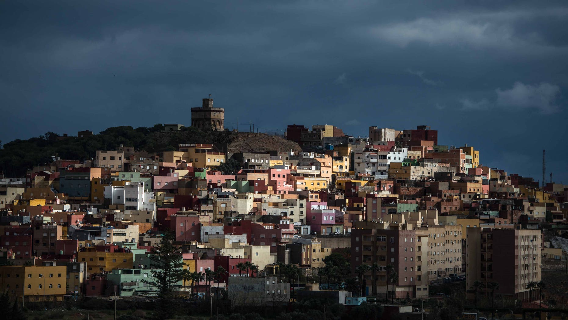 The Spanish enclave of Melilla's suburb 'La Canada' on January 22, 2015.