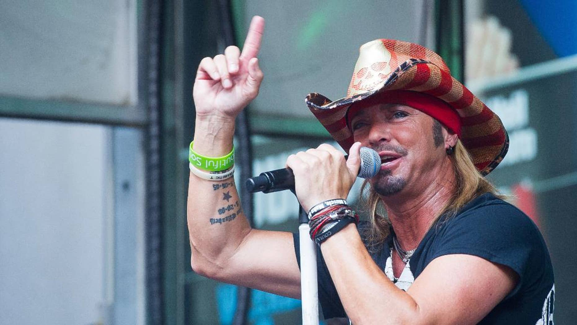 In this July 10, 2015 file photo, Bret Michaels performs at 'FOX and Friends' All American Summer Concert Series in New York.