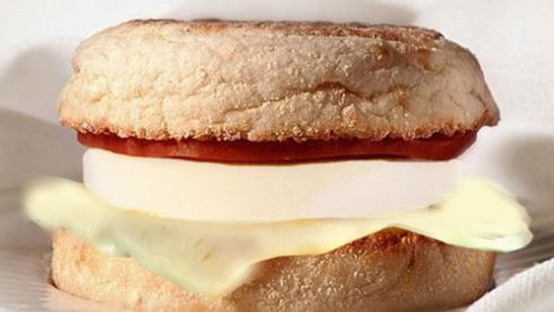 McDonald's popular Egg White Delight.