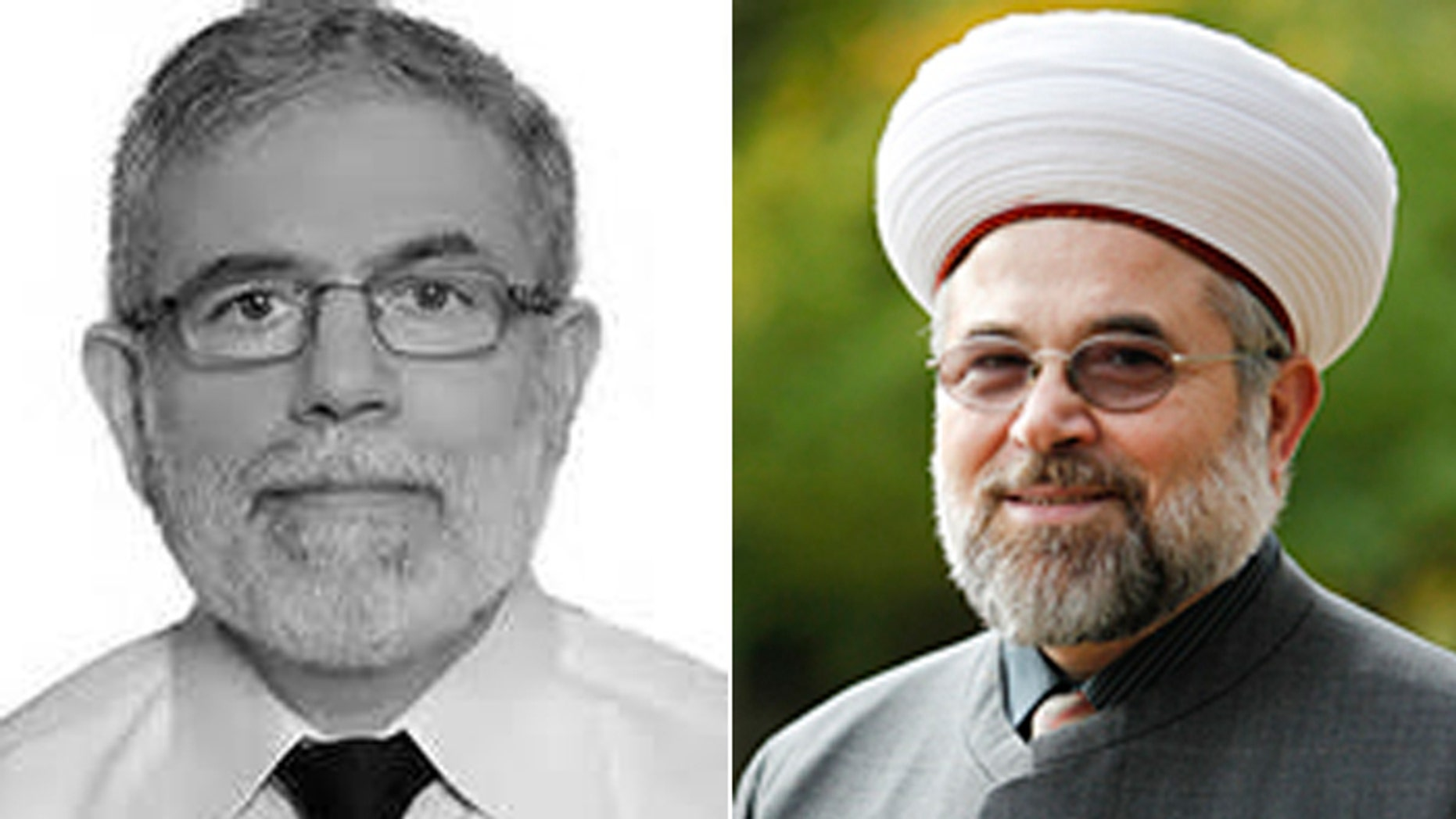 Abousamra, (l.), wanted Imam Talal Eid, (r.), replaced by a more radical preacher, according to Eid. (Massachusetts General Hospital, Brandeis University)