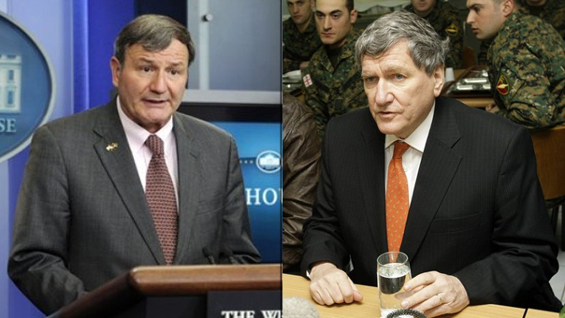 Shown here are Amb. Karl Eikenberry and Special Representative Richard Holbrooke. (AP/Reuters Photos)
