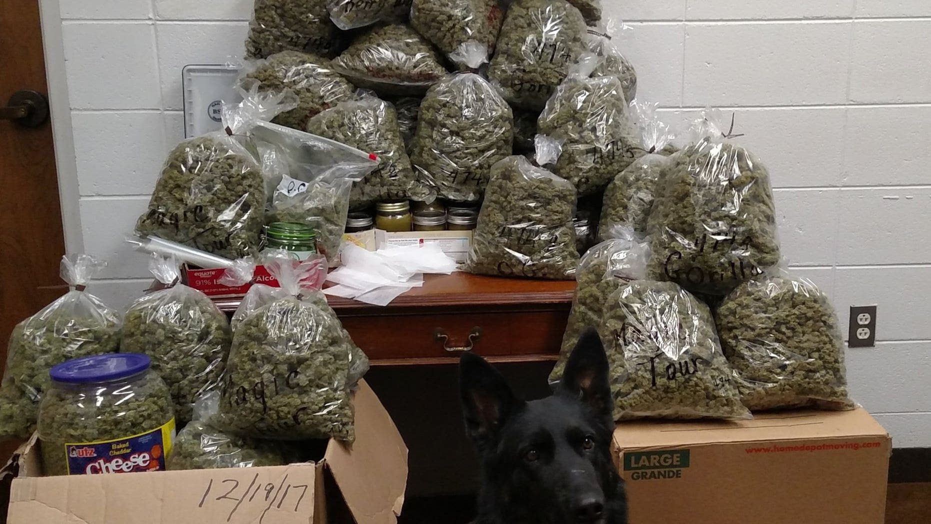 60 pounds of weed, valued at more than $300,000, was discovered by authorities in Nebraska in the truck of an elderly couple.