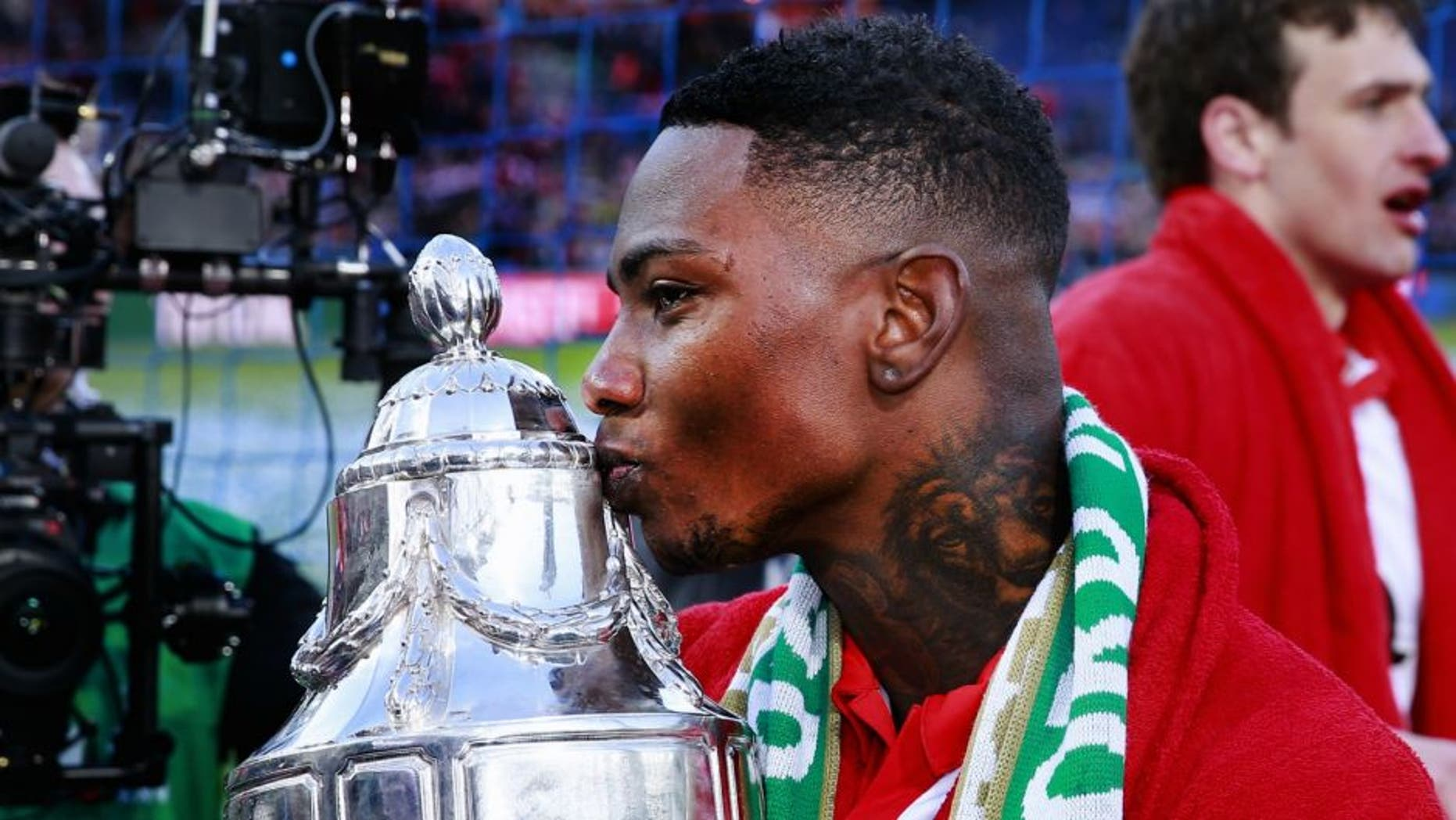 Eljero Elia KNVB bekerfinale during the Dutch Cup Final match between Feyenoord and FC Utrecht on April 24, 2016 at the Kuip stadium in Rotterdam, The Netherlands.(Photo by VI Images via Getty Images)