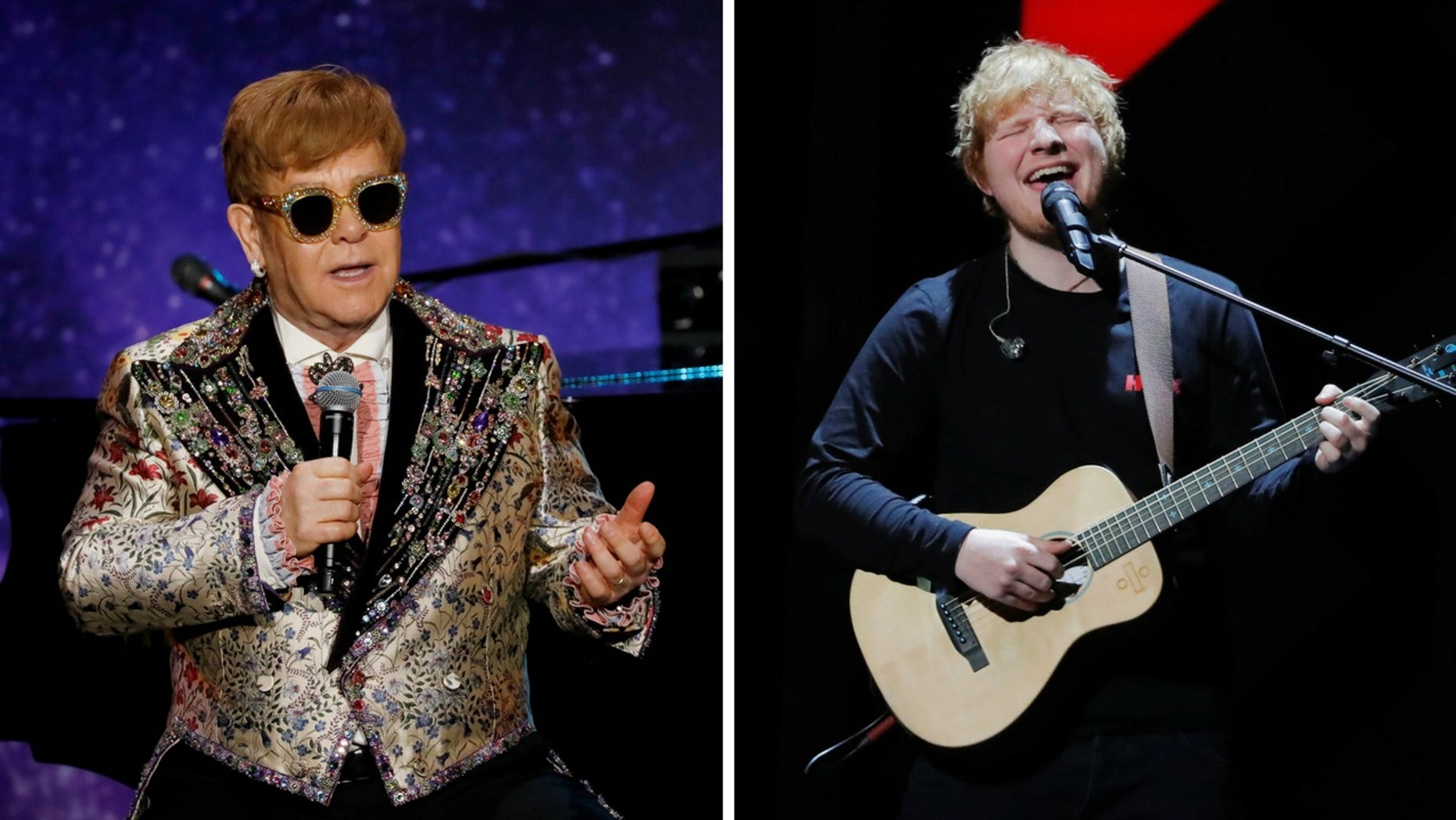 Elton John said he warned Ed Sheeran his popularity would not last forever.