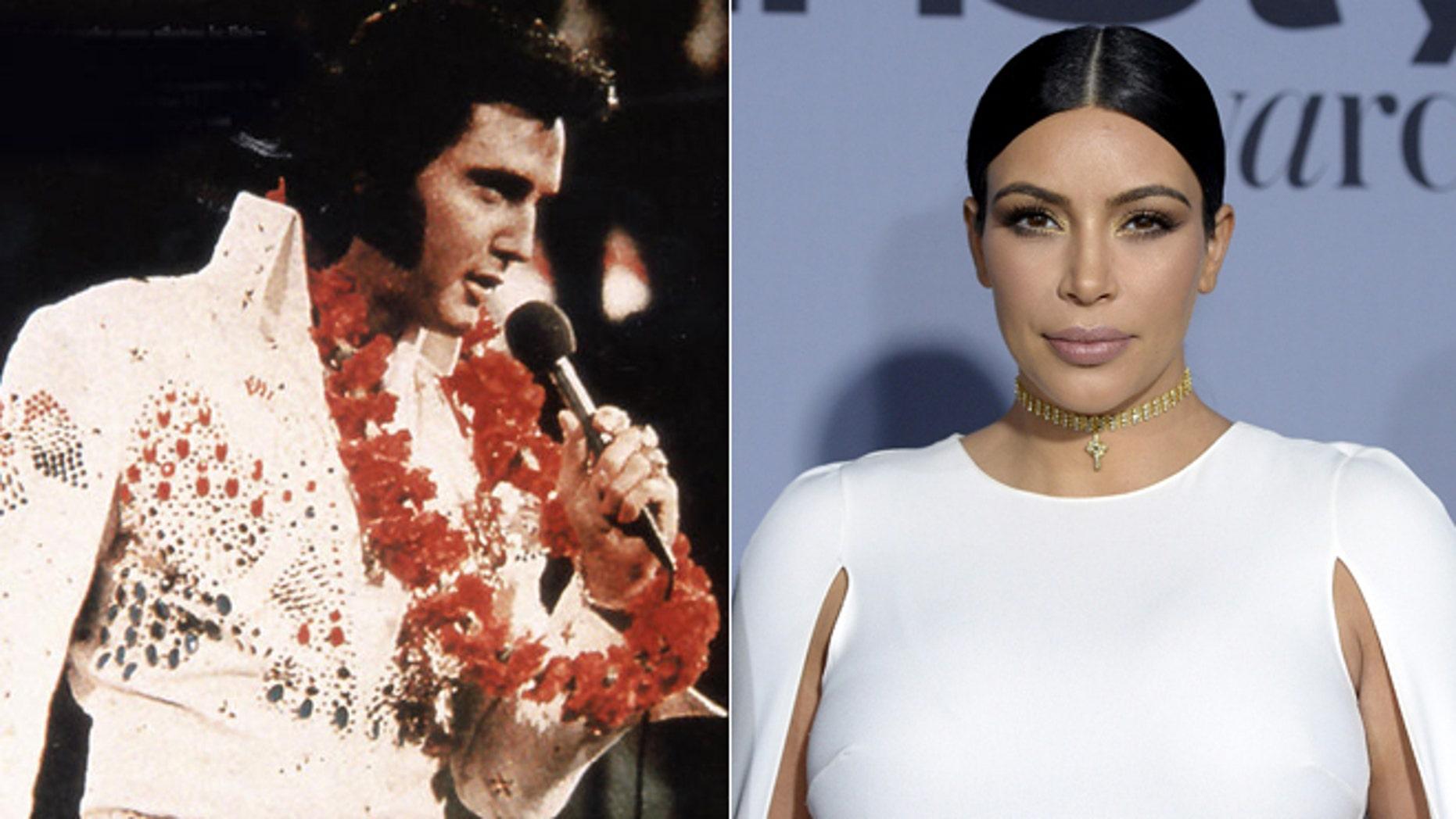Elvis Presley. Kim Kardashian